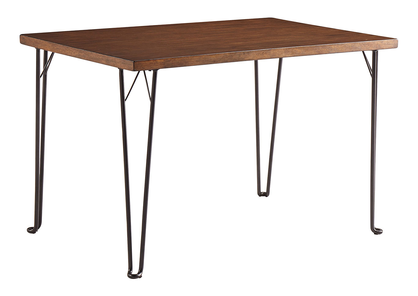 Moddano Brown/Black Rectangular Dining Table,Signature Design By Ashley