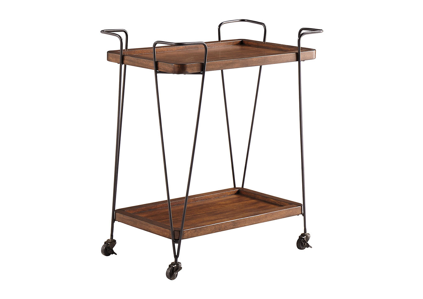 Moddano Brown/Black Kitchen Cart,Signature Design By Ashley
