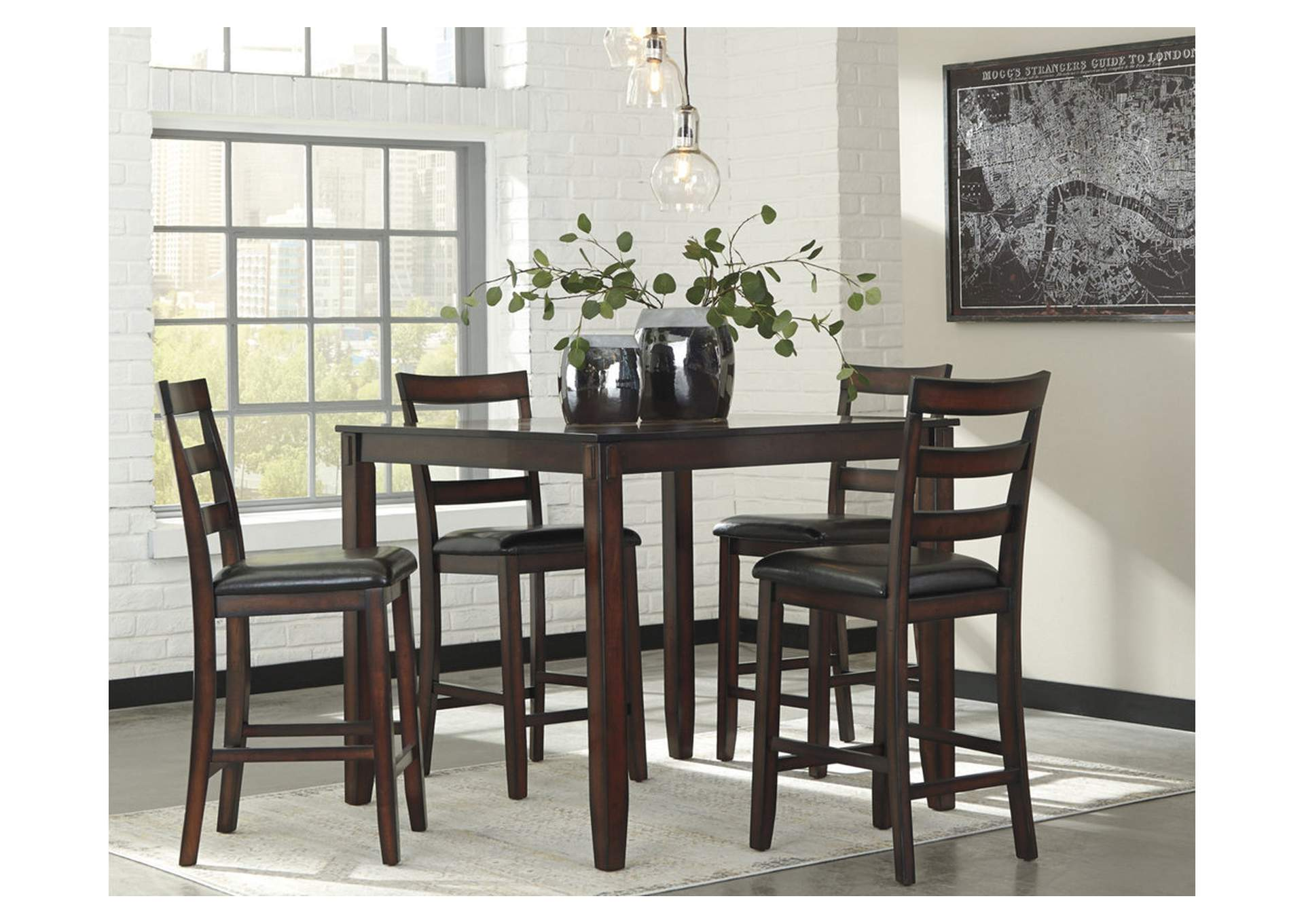 Coviar Brown Dining Room Counter Table Set,Signature Design By Ashley