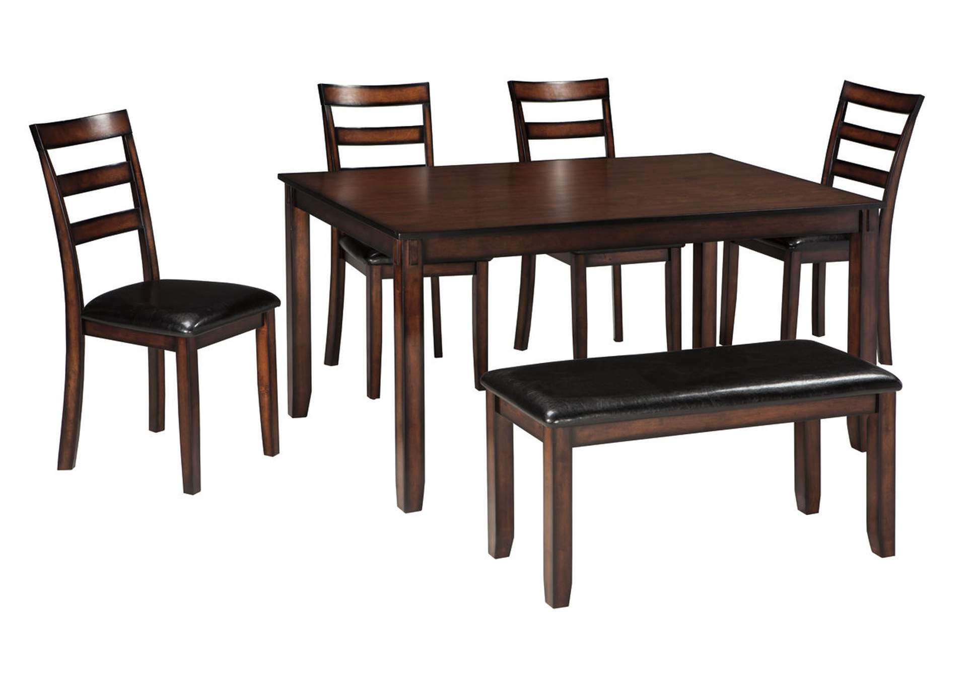 Long Island Discount Furniture Coviar Brown Dining Room Table Set