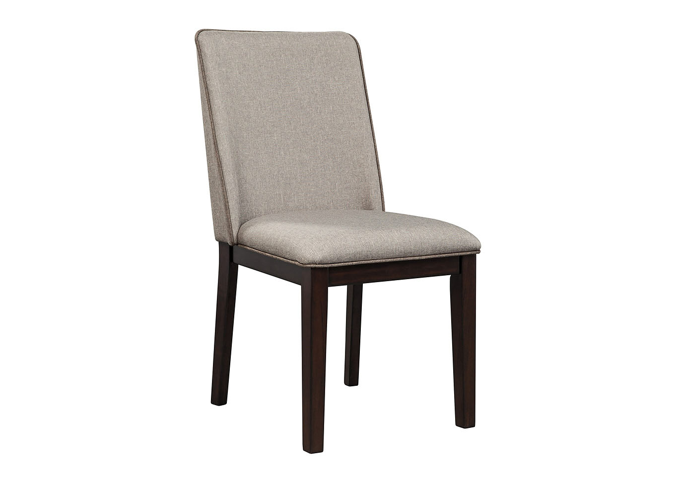 Chanceen Dark Brown Upholstered Side Chair (Set of 2),Signature Design By Ashley