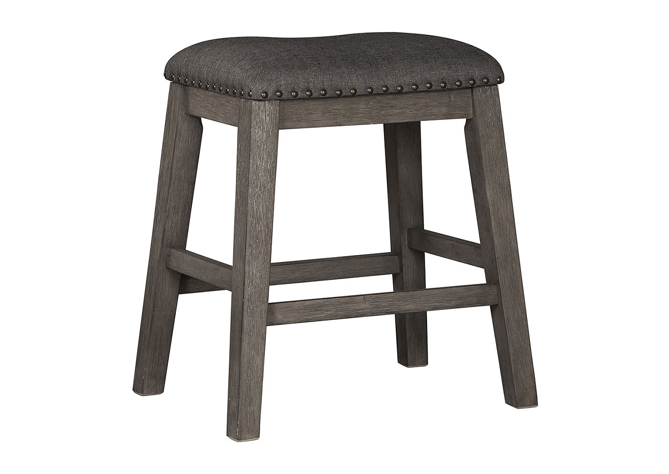Caitbrook Dark Gray Upholstered Stool (Set of 2),Signature Design By Ashley