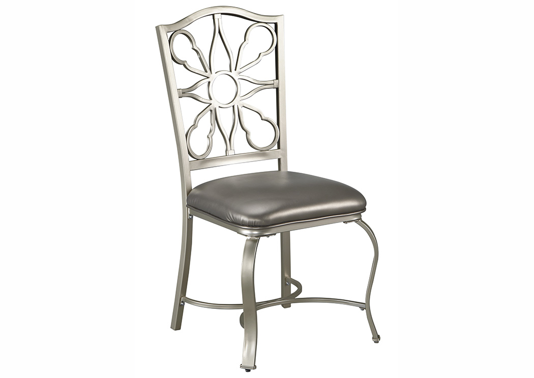 Shollyn Silver Dining Upholstered Side Chair (Set of 4),Signature Design By Ashley