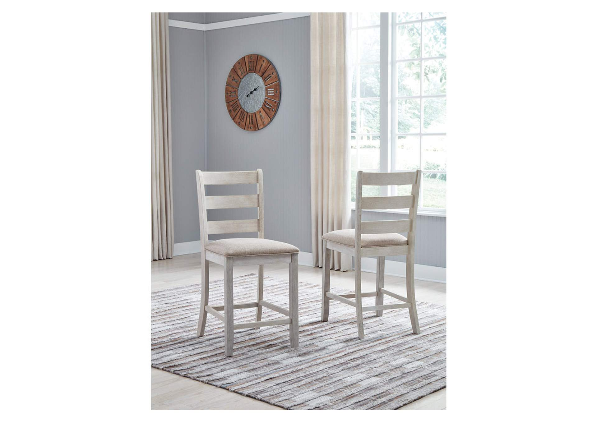 Skempton Rectangular Counter Dining Set W/ 2 Chairs,Signature Design By Ashley