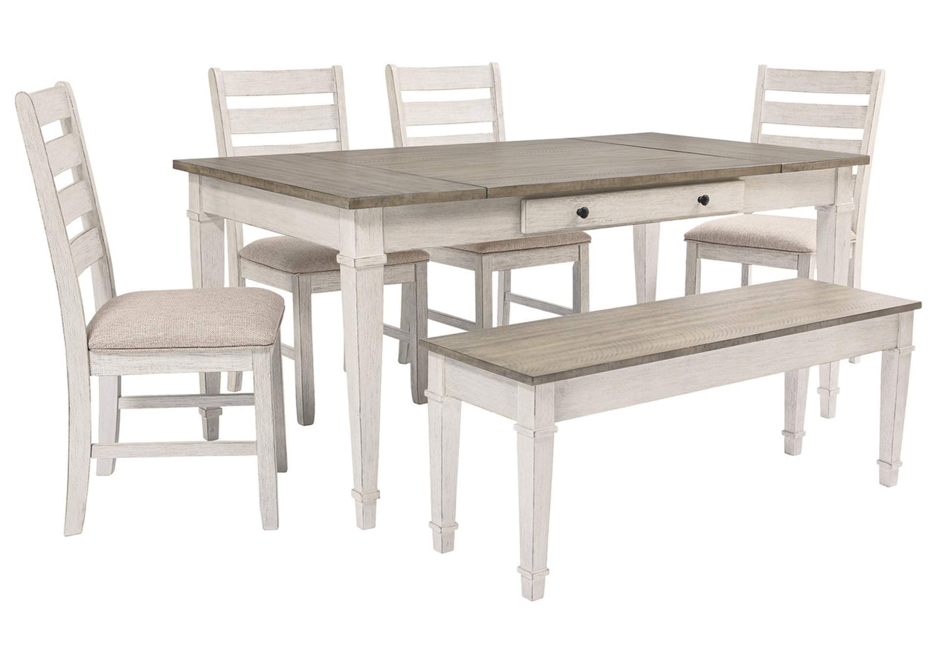 Skempton Dining Room Table w/4 Chairs and Bench,Signature Design By Ashley