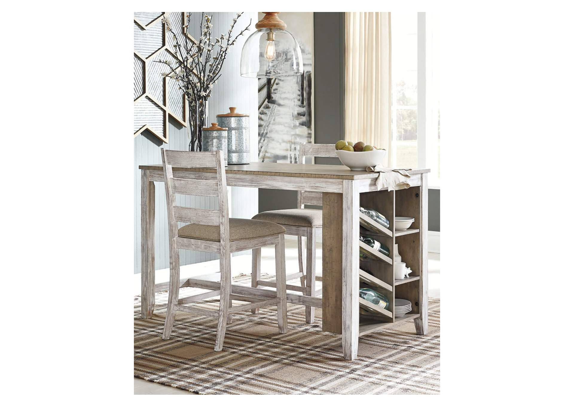 The Furniture Outlet Ny Skempton White Counter Height Dining Table
