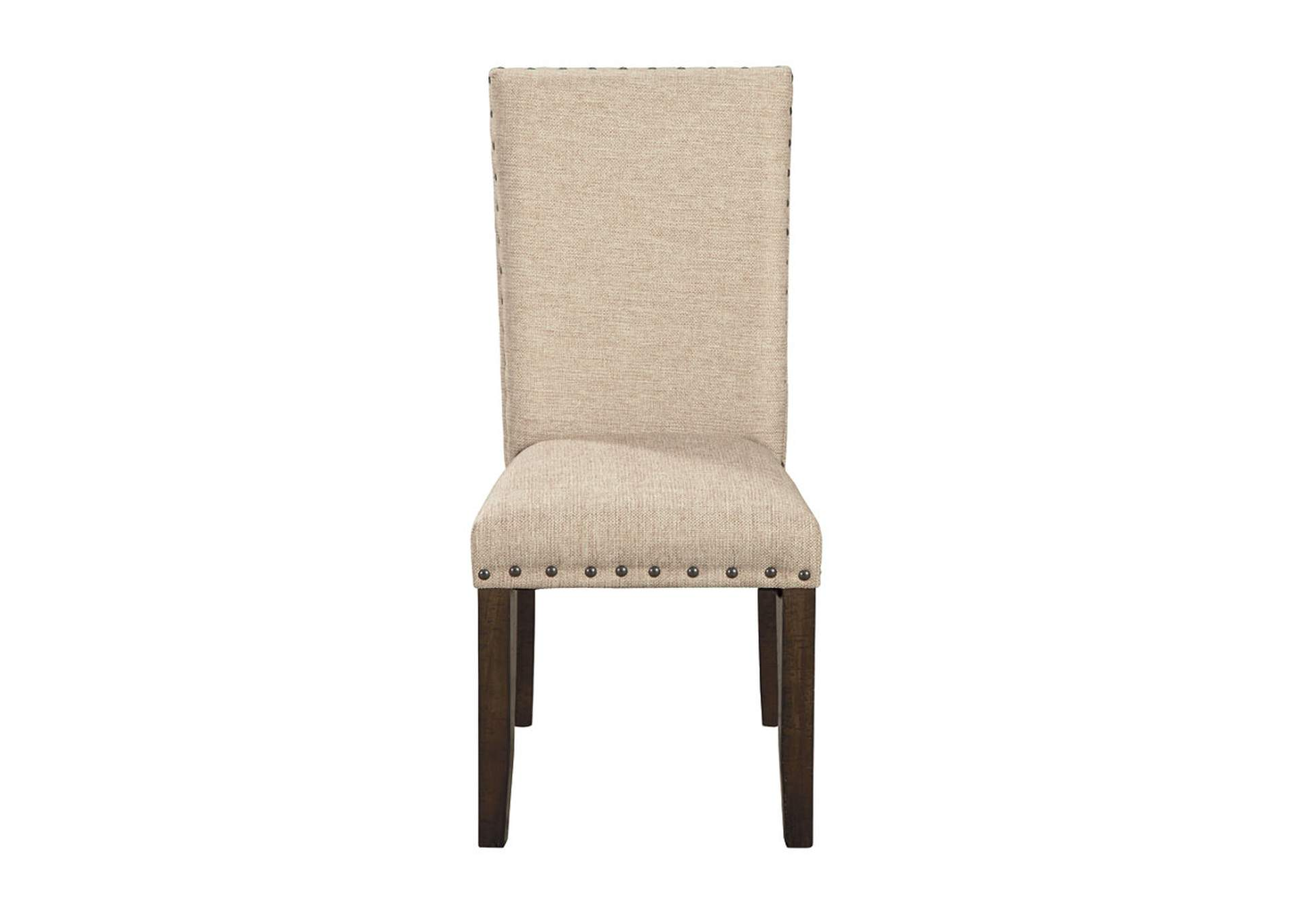 Rokane Light Brown Upholstered Side Chair (Set of 2),Signature Design By Ashley