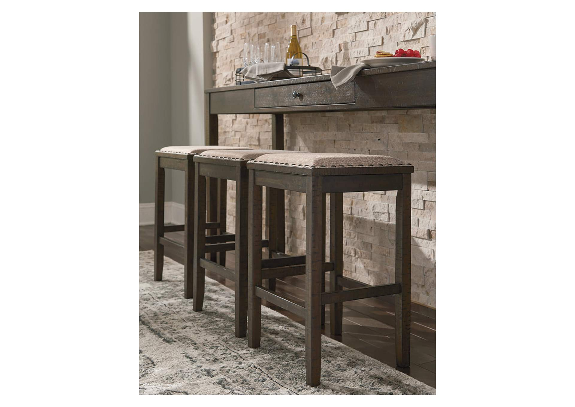 Rokane Light Brown Counter Table Set,Signature Design By Ashley