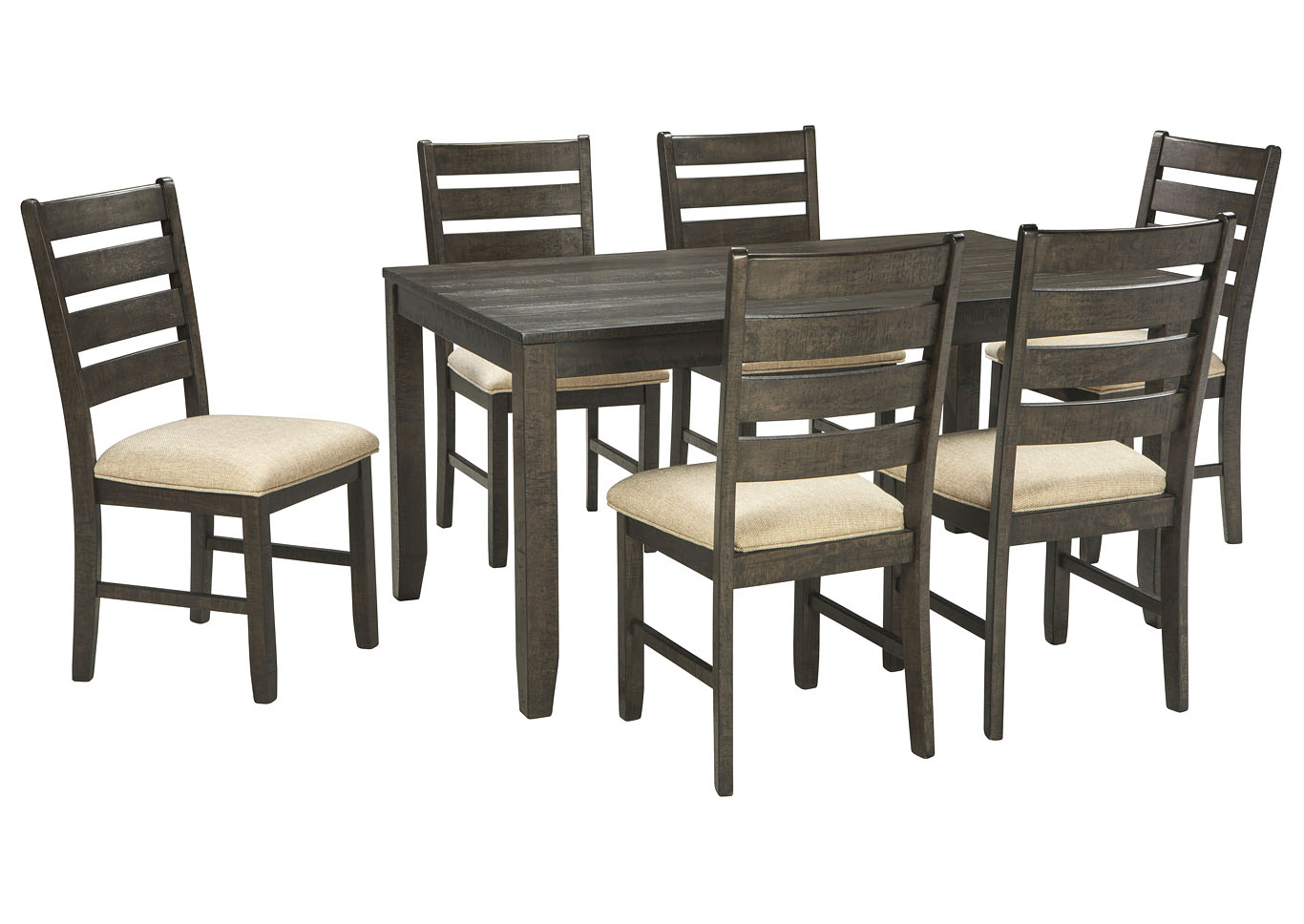 Dining Room Furniture Sets Cheap above & beyond furniture rokane brown 7-piece dining room table set