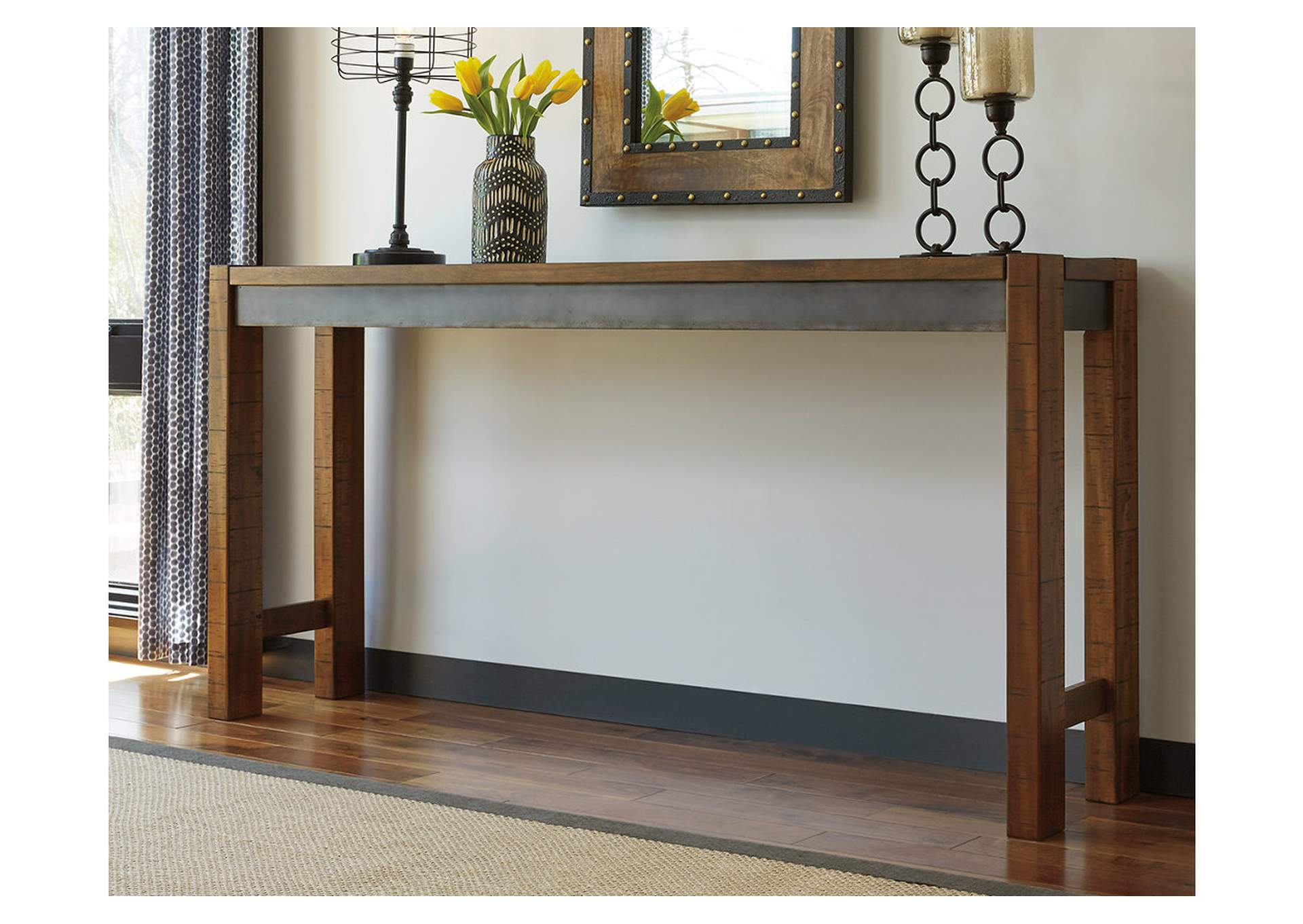 Torjin Brown/Gray Counter Table,Signature Design By Ashley