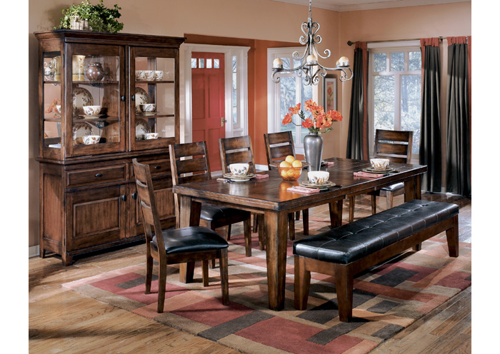 Larchmont Rectangular Extension Table w/4 Side Chairs,Signature Design By Ashley
