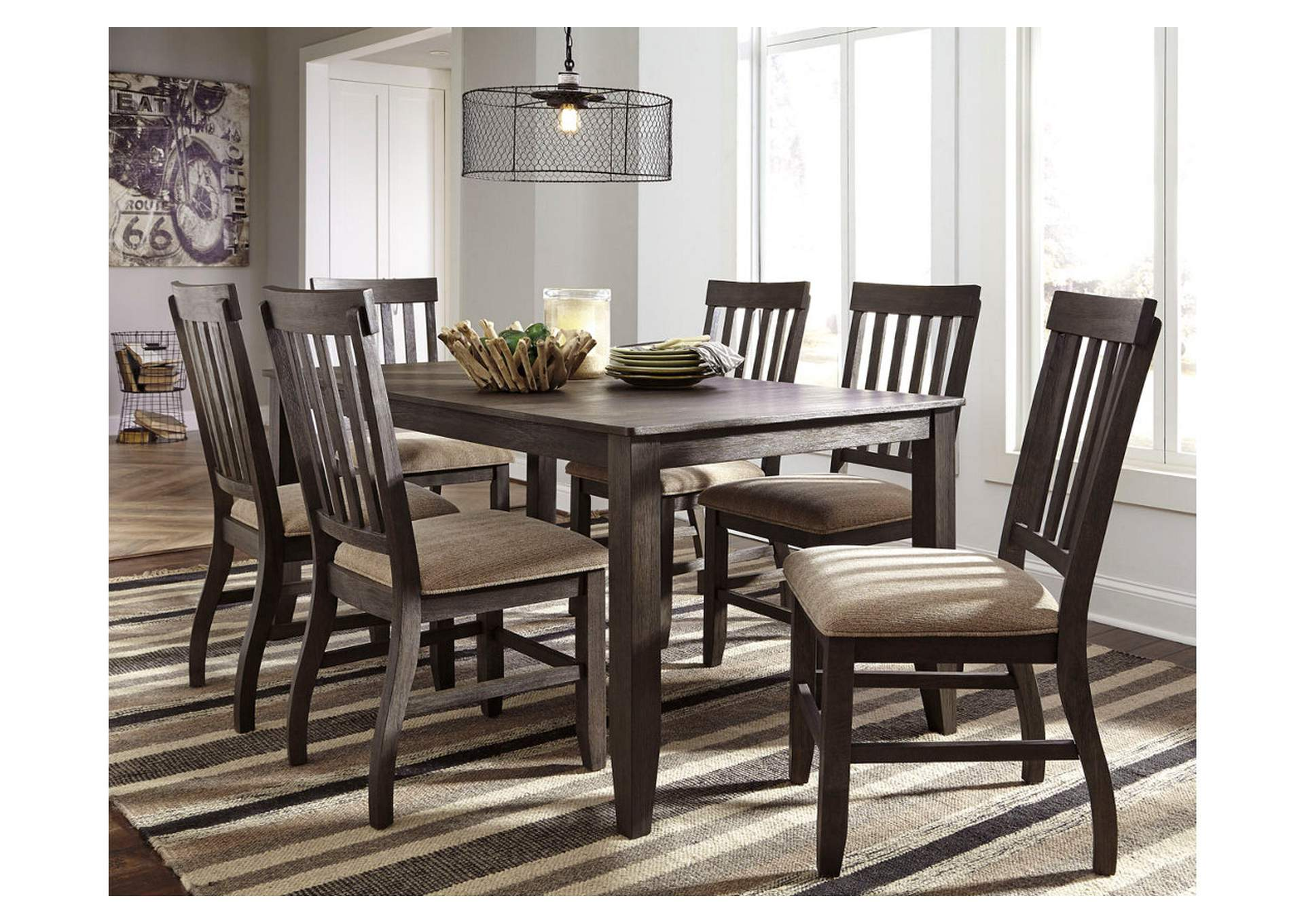 Dresbar Grayish Brown Rectangular Dining Room Table,Signature Design By Ashley