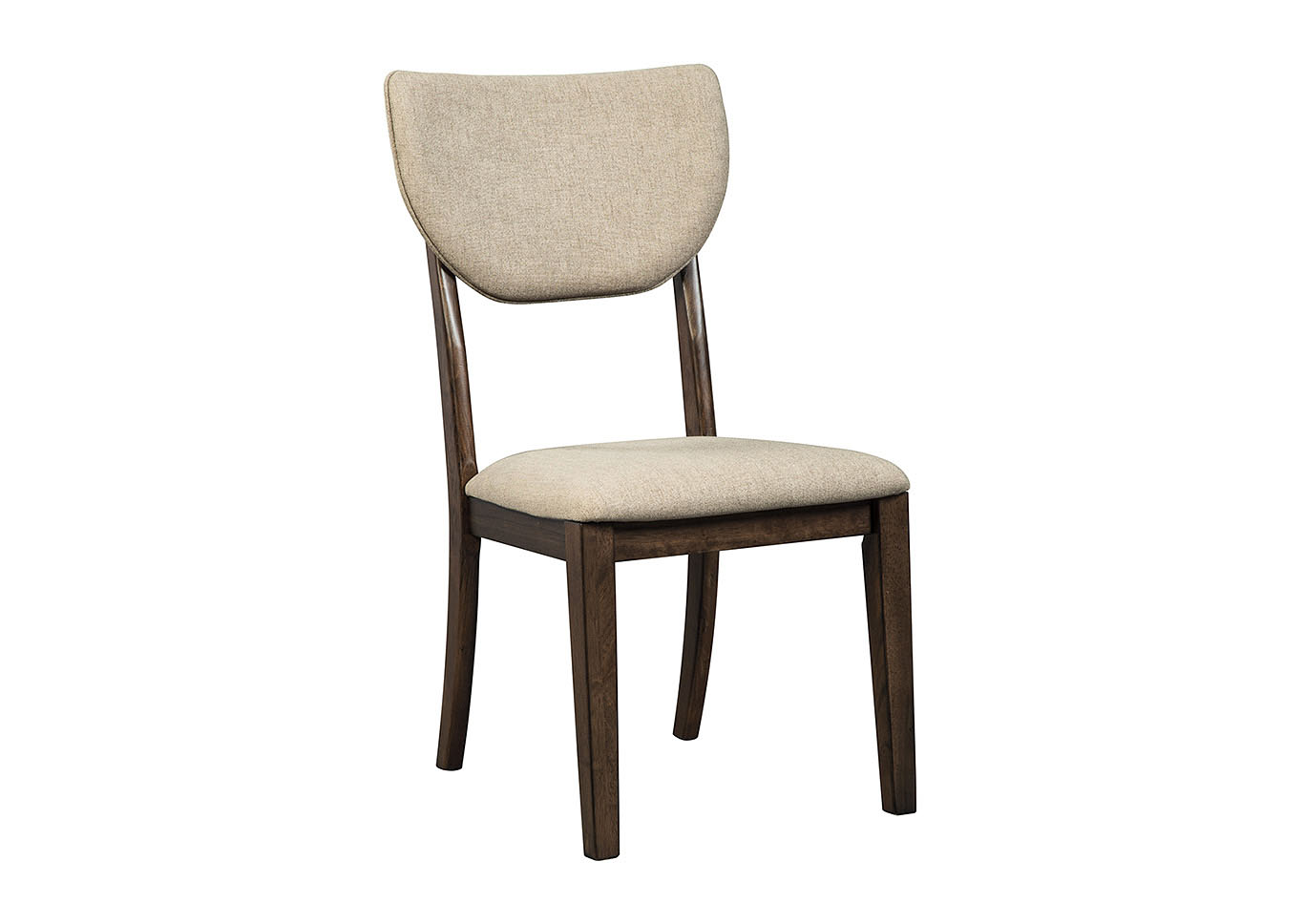 Charmant 2 Joshton Dark Brown Upholstered Dining Chairs,48 Hour Quick Ship