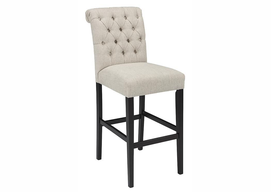 ivan smith tripton medium linen tall upholstered barstool set of 2