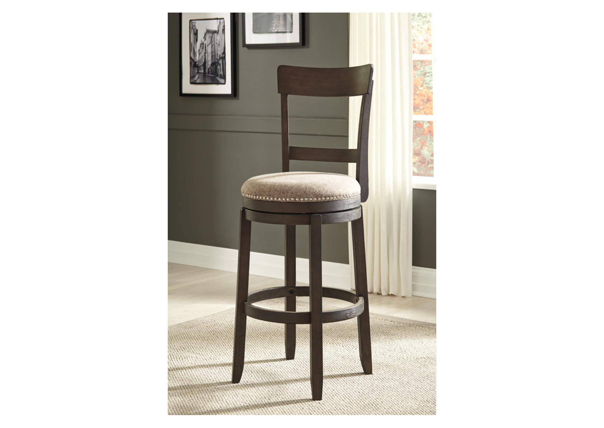 Drewing Brown Upholstered Barstool (Set of 2),Signature Design By Ashley