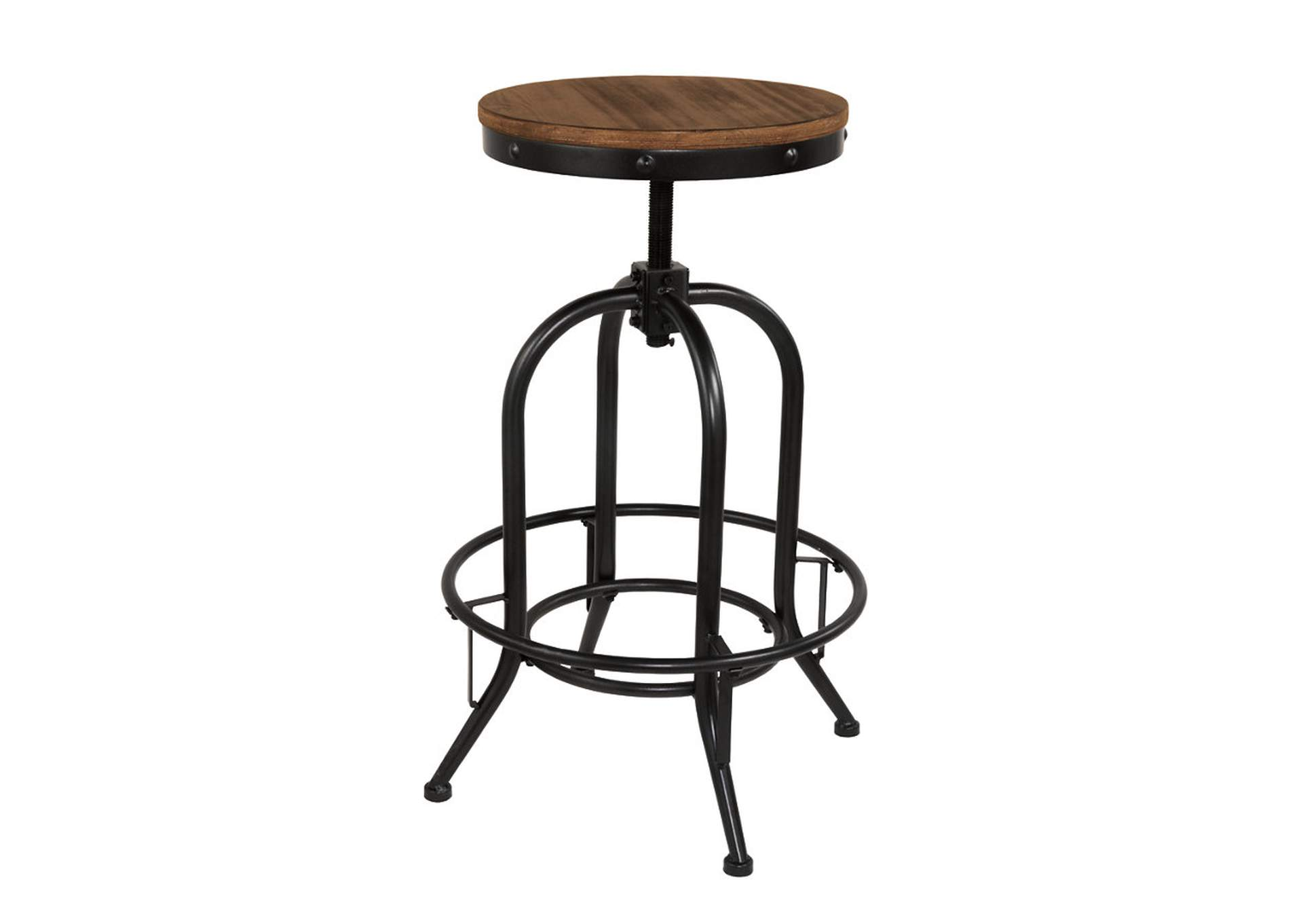 Pinnadel Light Brown Tall Swivel Stool (Set of 2),Signature Design By Ashley