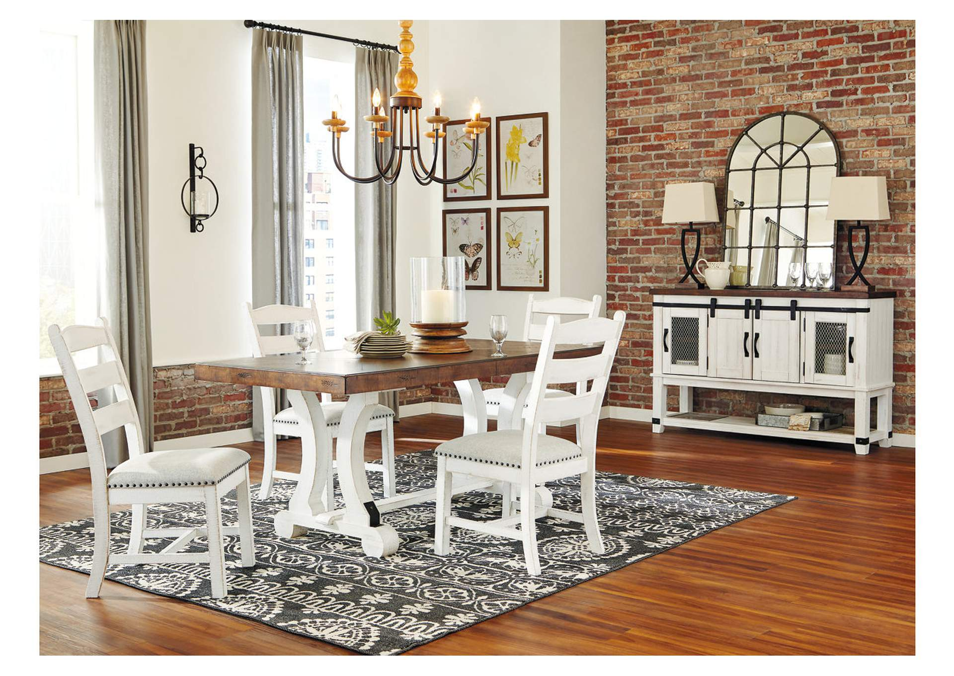 Valebeck White/Brown Dining Table,Signature Design By Ashley