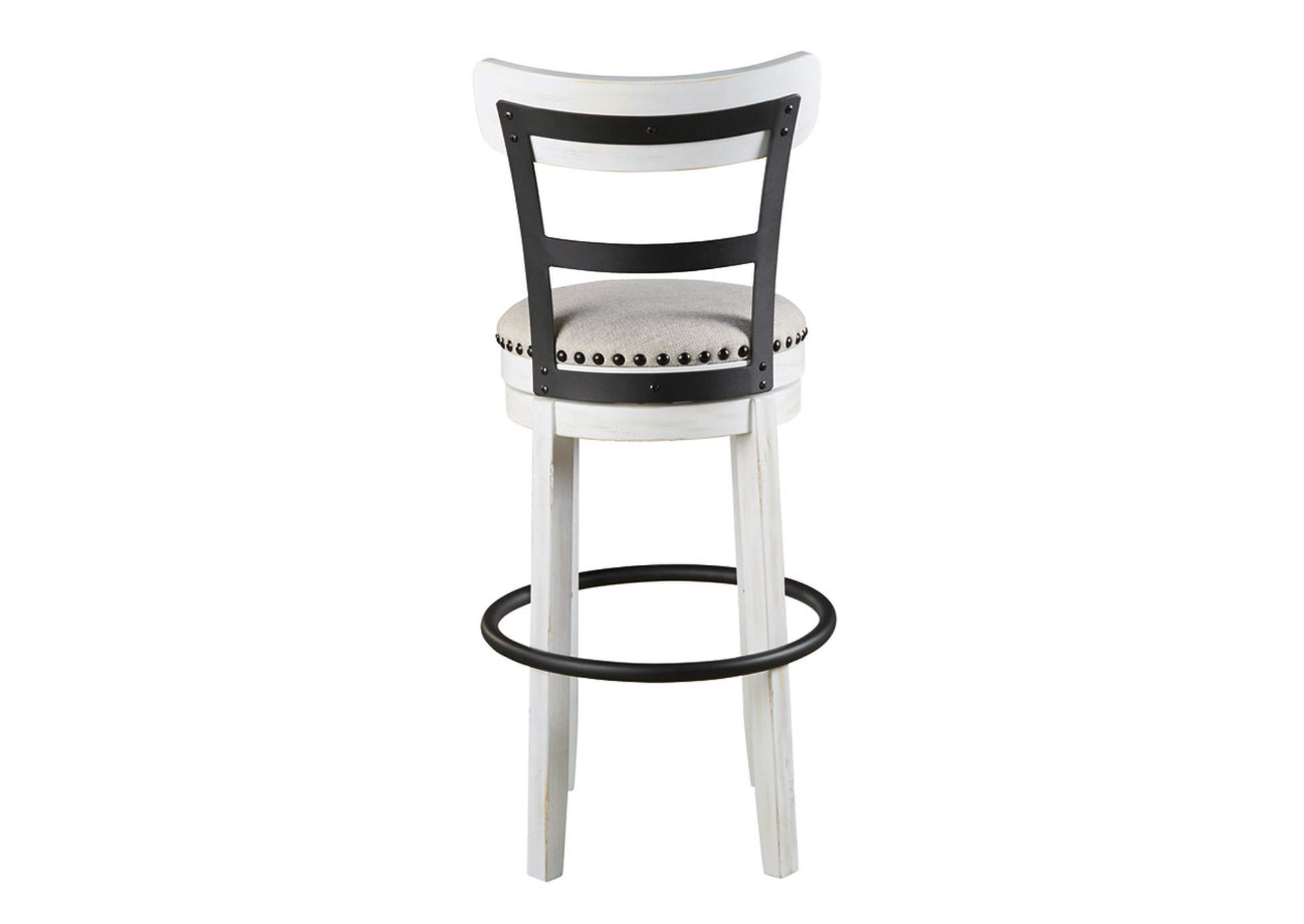 Stupendous Ivan Smith Valebeck White Tall Upholstered Swivel Bar Stool Bralicious Painted Fabric Chair Ideas Braliciousco