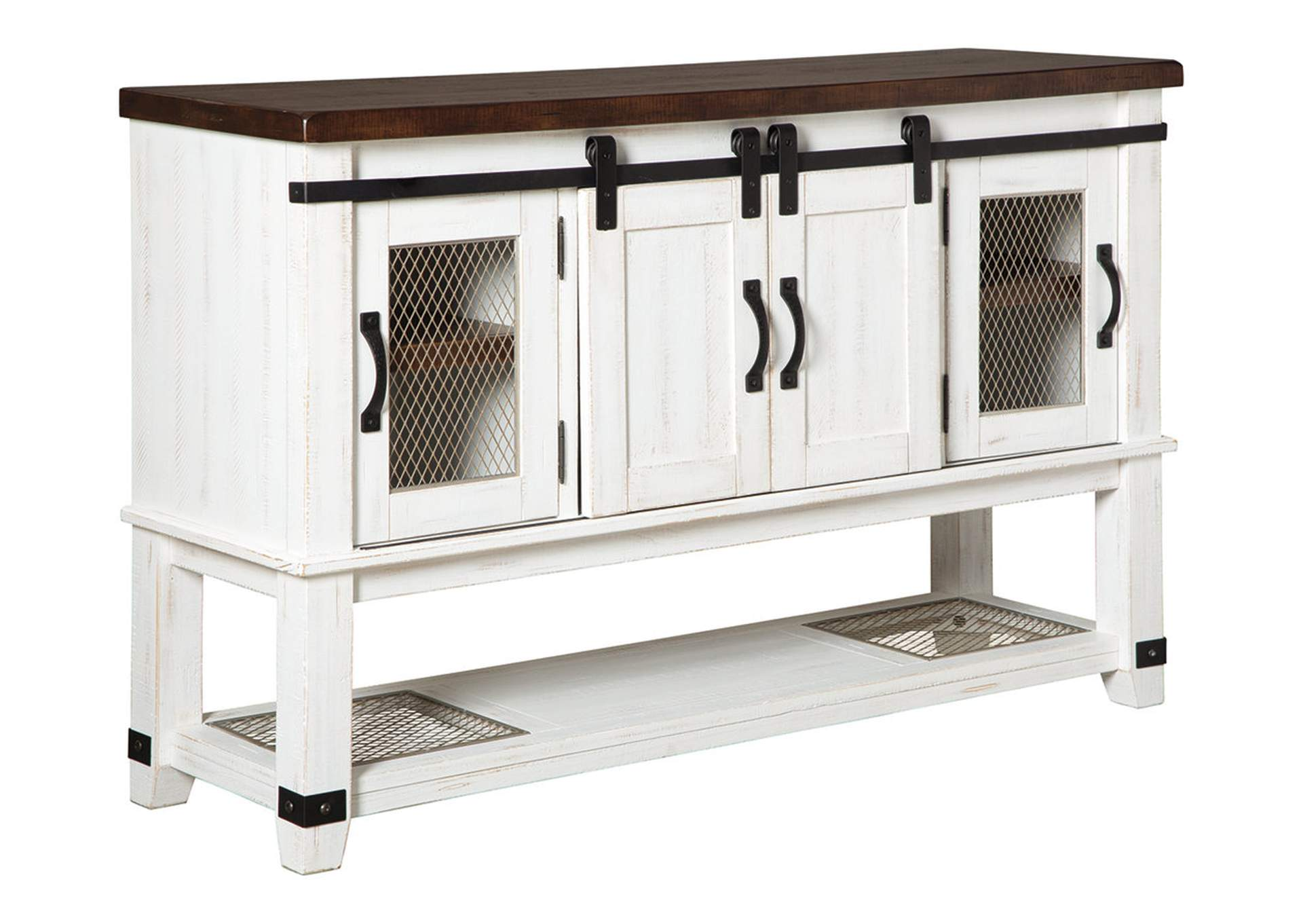 Valebeck White/Brown Dining Server,Signature Design By Ashley