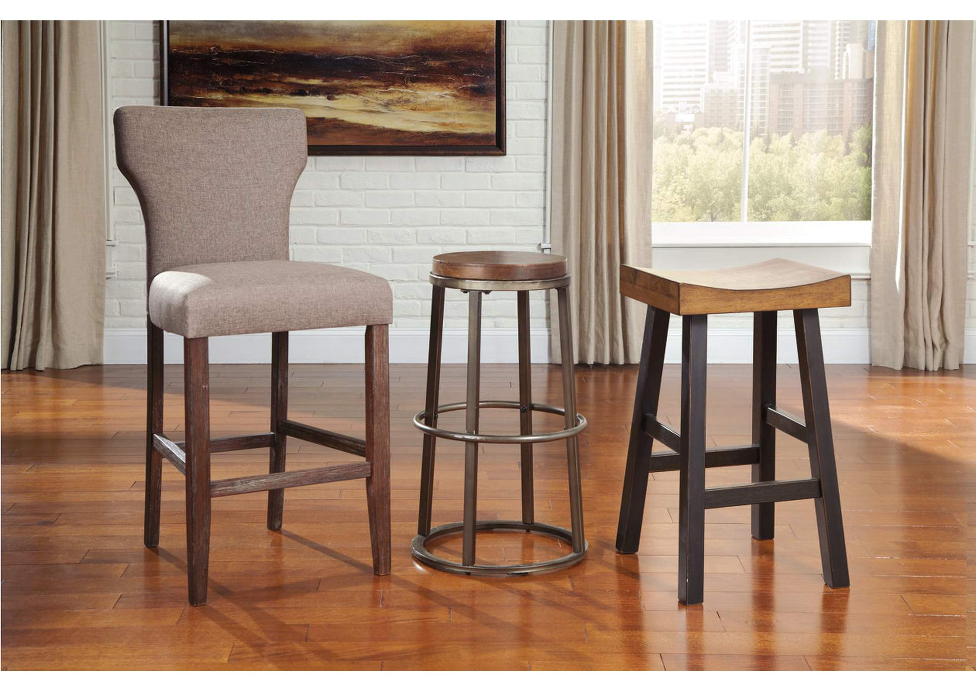 Glosco Tall Stool (Set of 2),Signature Design By Ashley