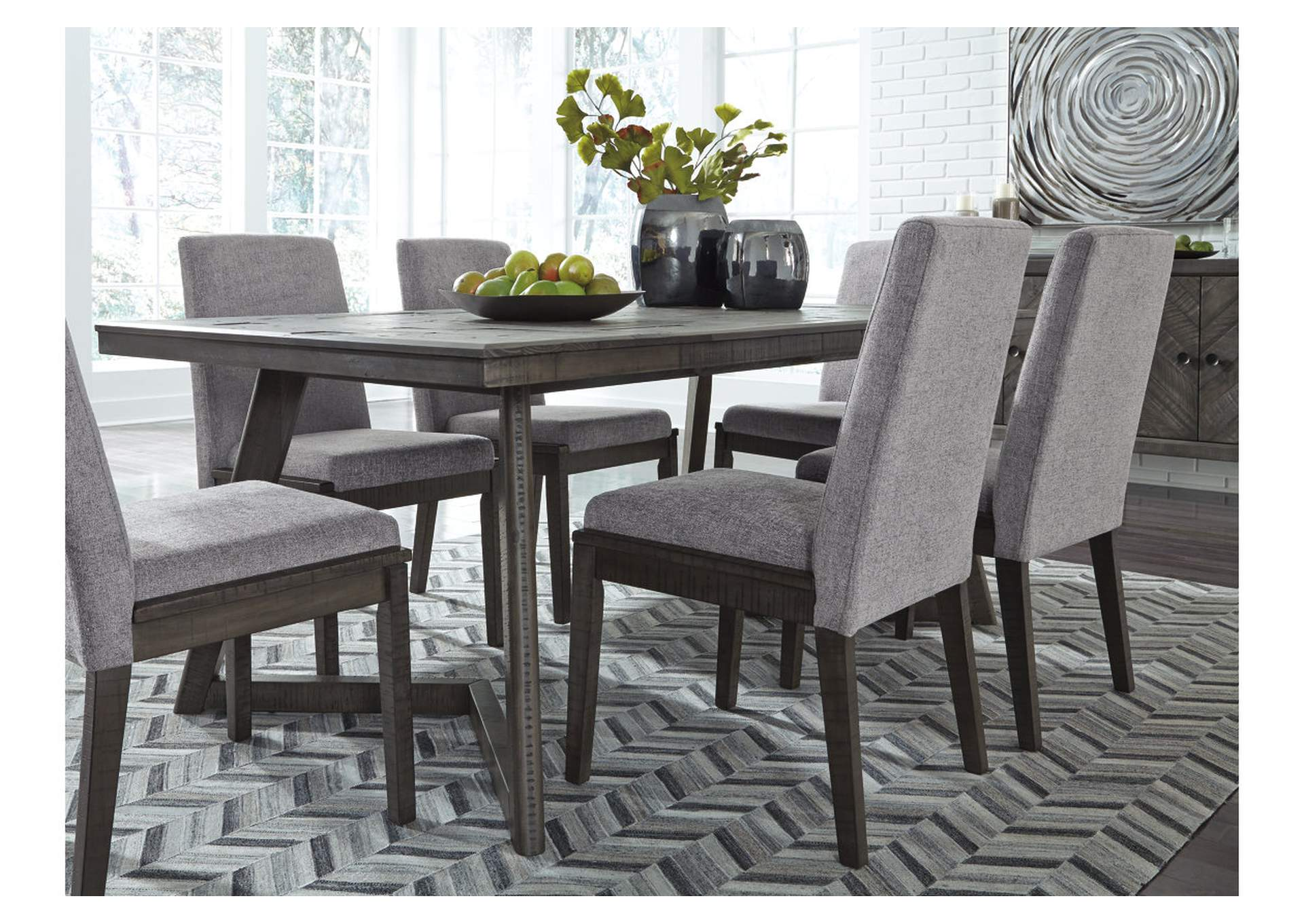 Besteneer Dark Gray Rectangular Dining Room Table,Signature Design By Ashley