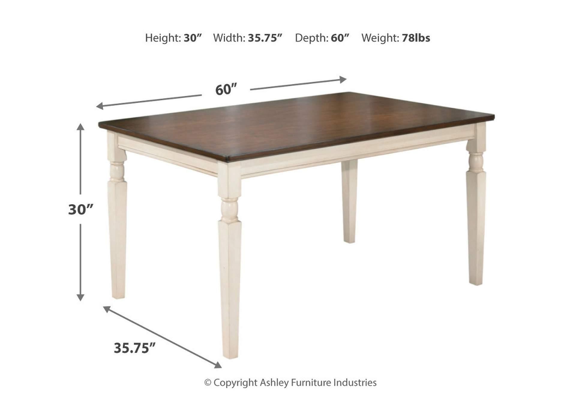 Price Cutter Furniture Whitesburg Rectangular Dining Table