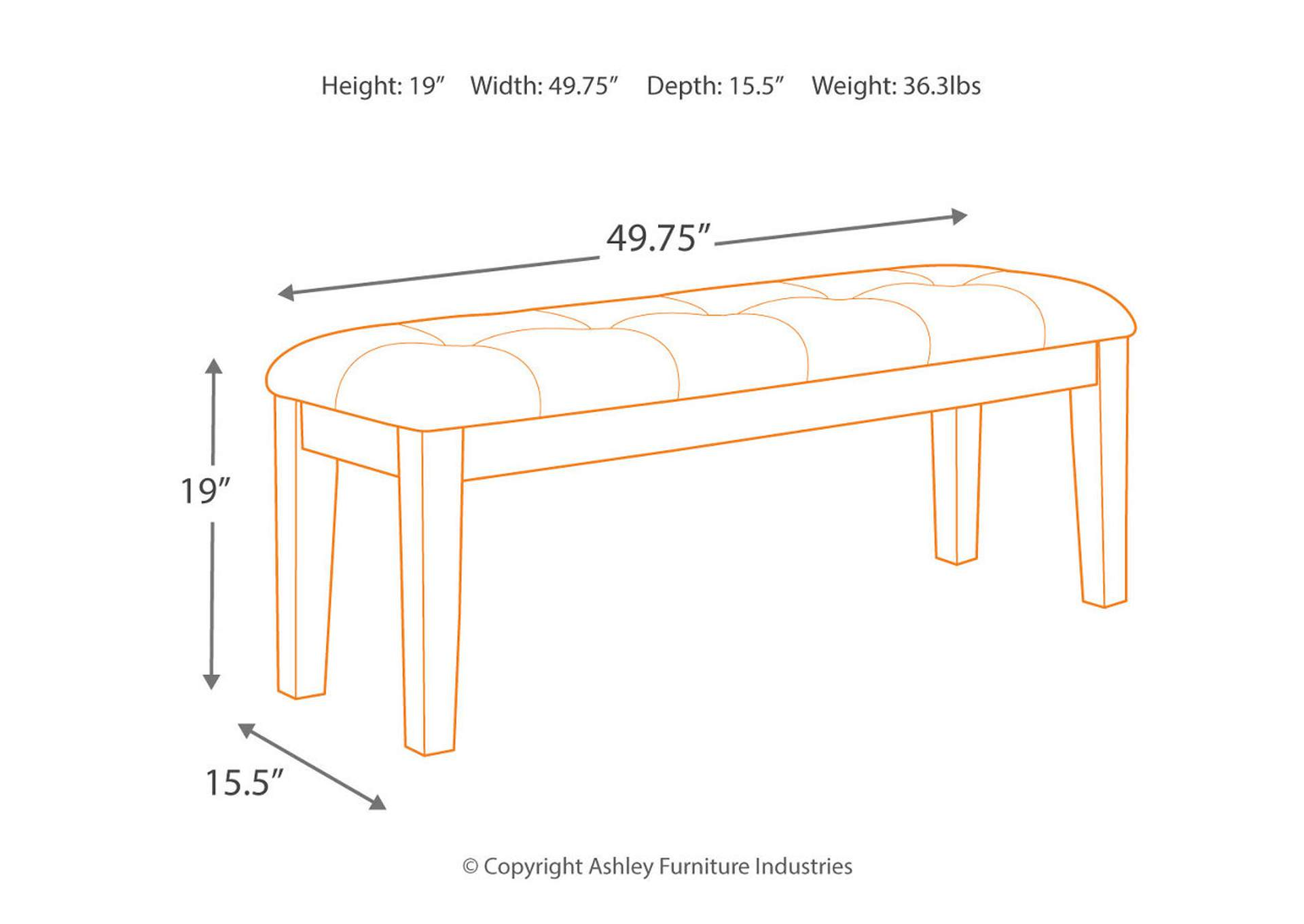 Ralene Bench,Signature Design By Ashley