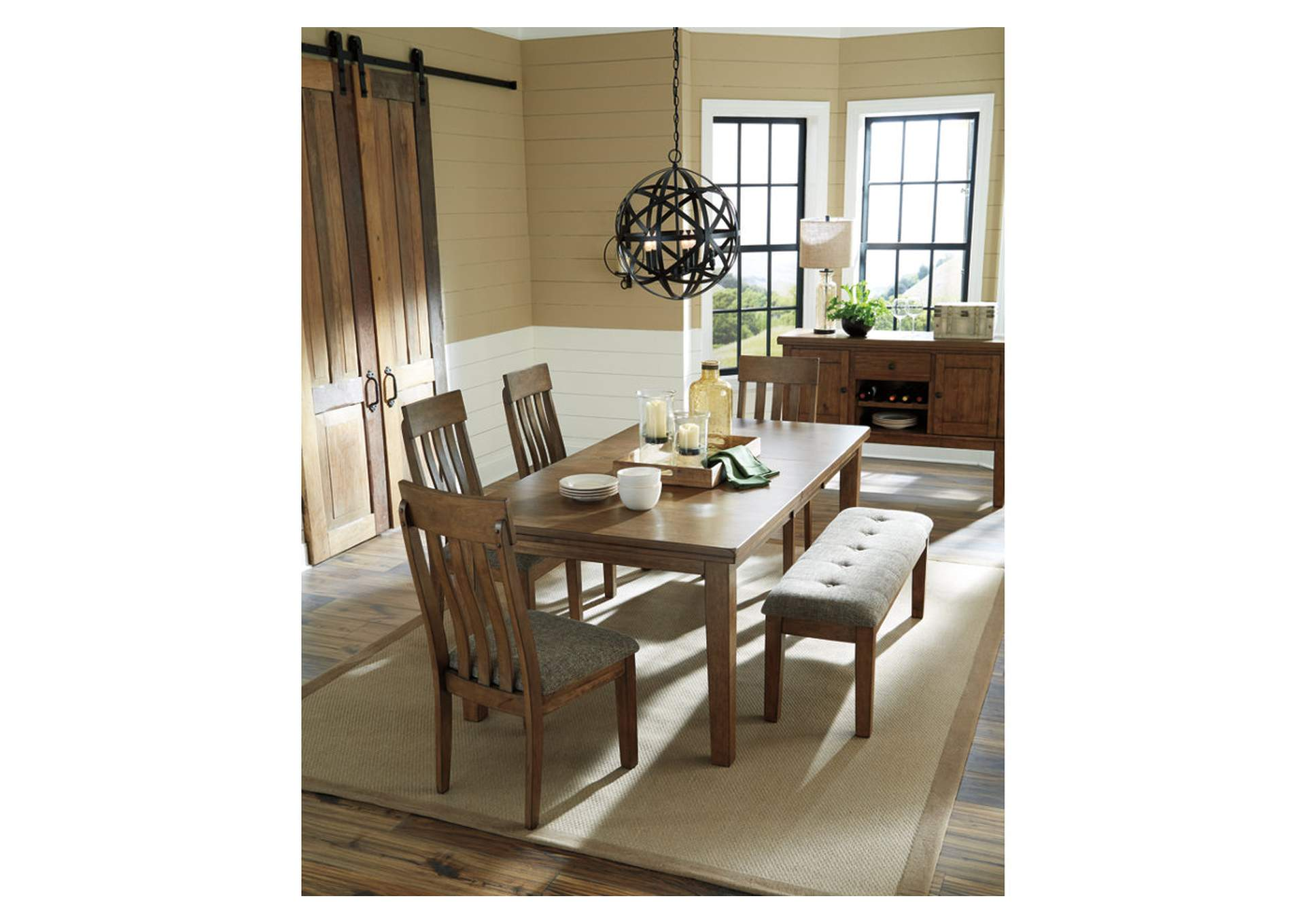 Flaybern Butterfly Extension Dining Table,Benchcraft