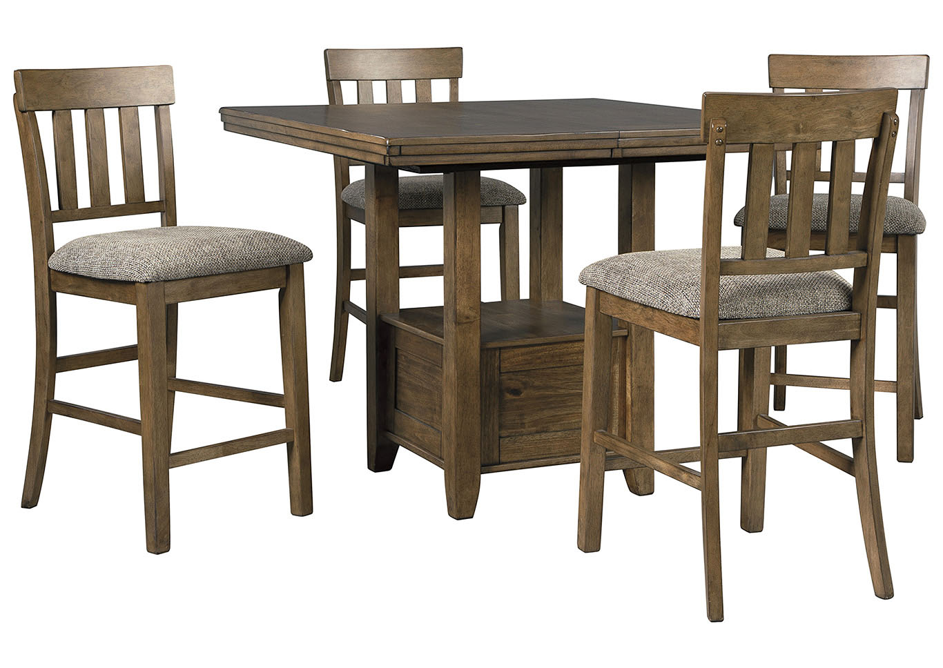 Flaybern Brown Counter Height Table w/4 Bar Stools,Benchcraft