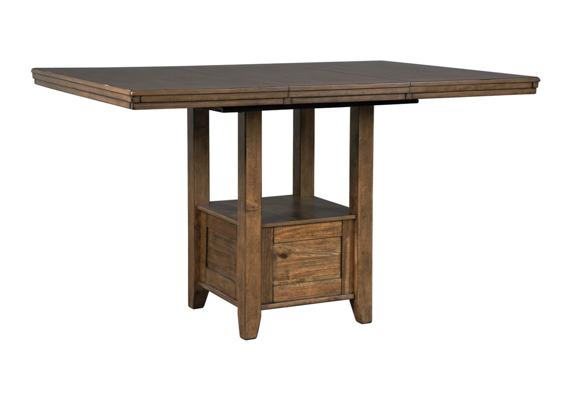 "Flaybern Brown Rectangular Counter Extension Dining Table w/18"" Leaf,Benchcraft"