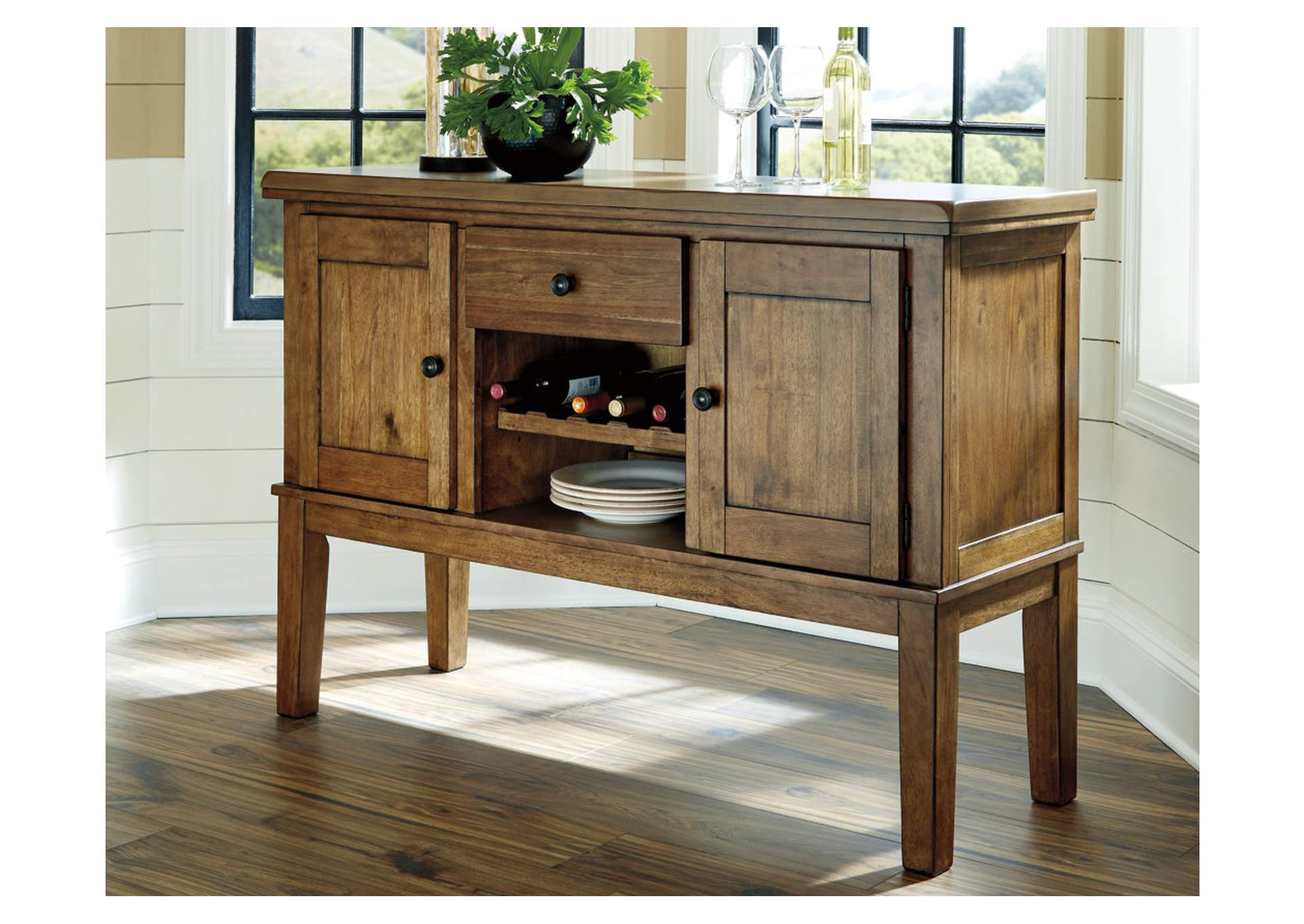 Flaybern Brown Dining Room Server,Benchcraft
