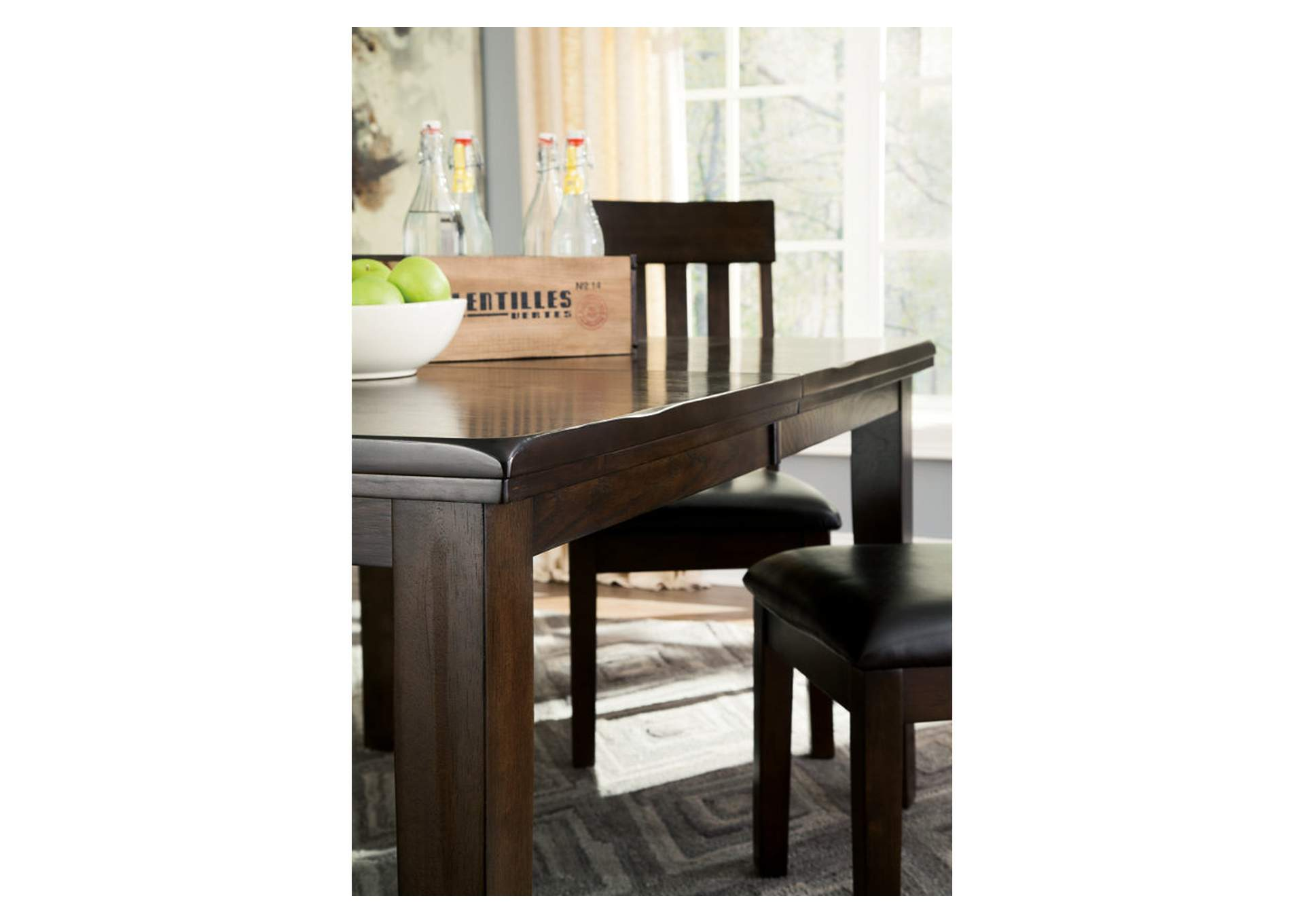 Haddigan Dark Brown Rectangle Dining Room Extension Table,Signature Design By Ashley