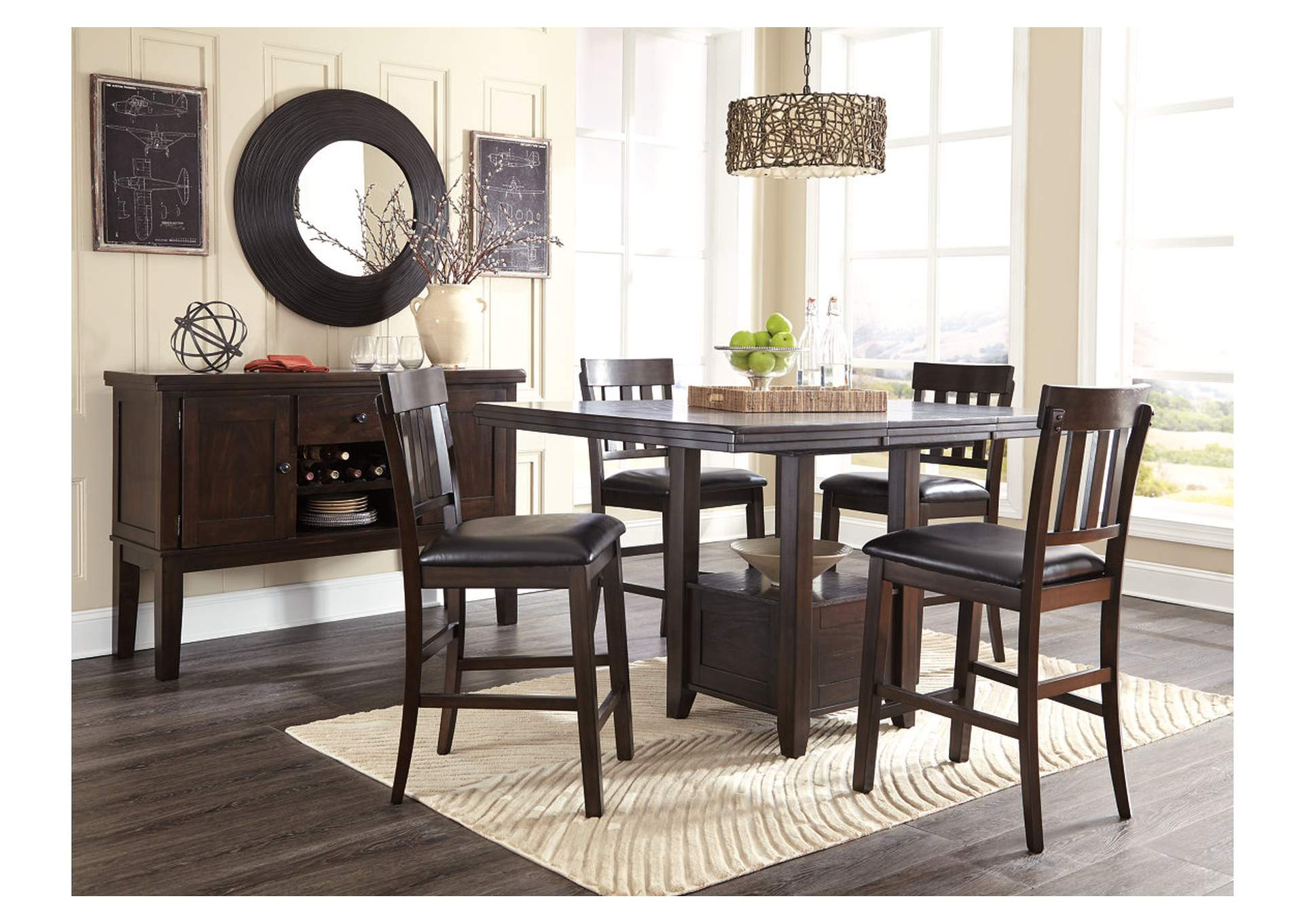 Haddigan Dark Brown Dining Room Server,Signature Design By Ashley