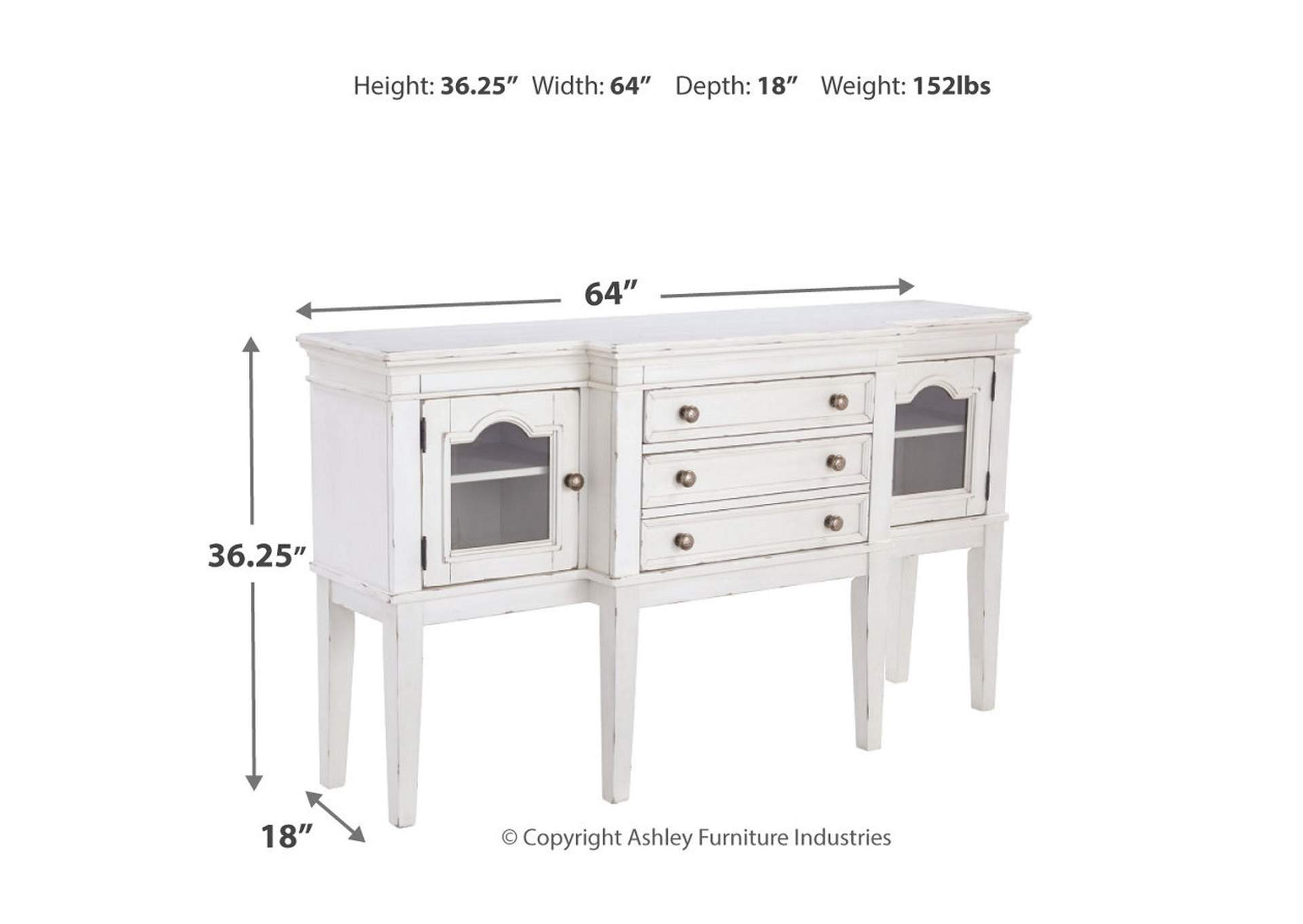 Danbeck White Dining Room Server,Signature Design By Ashley
