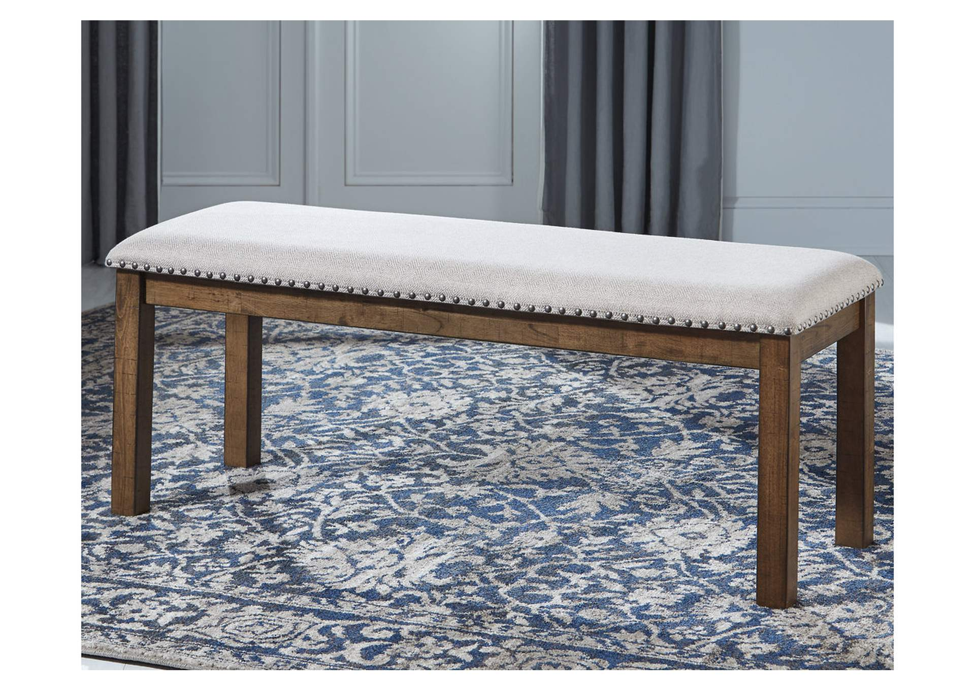 Moriville Beige Dining Bench,Signature Design By Ashley