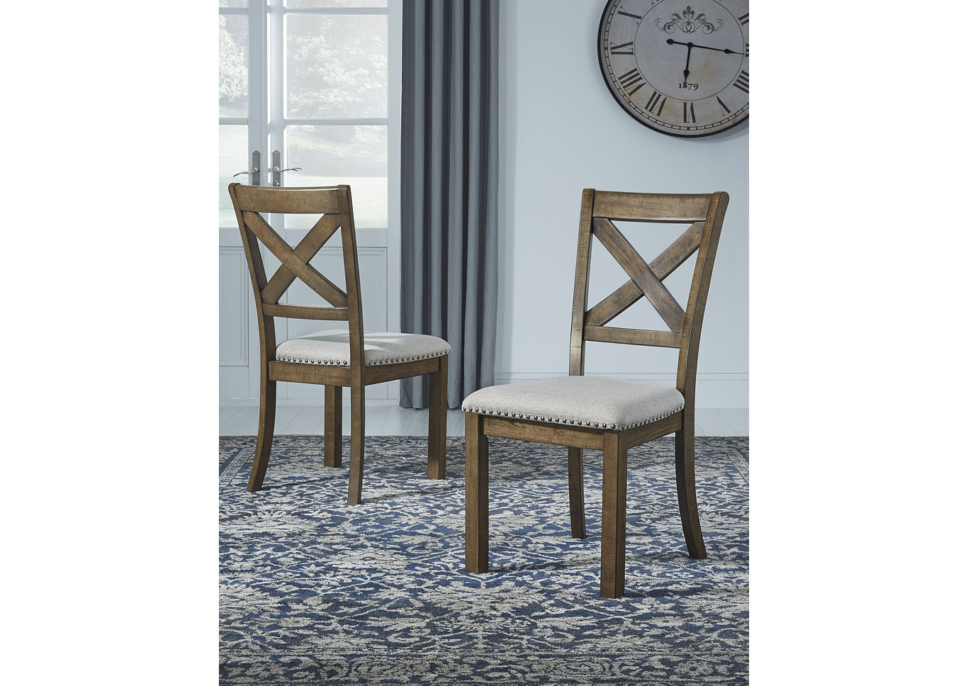 Moriville Beige Upholstered Side Chair (Set of 2),Signature Design By Ashley