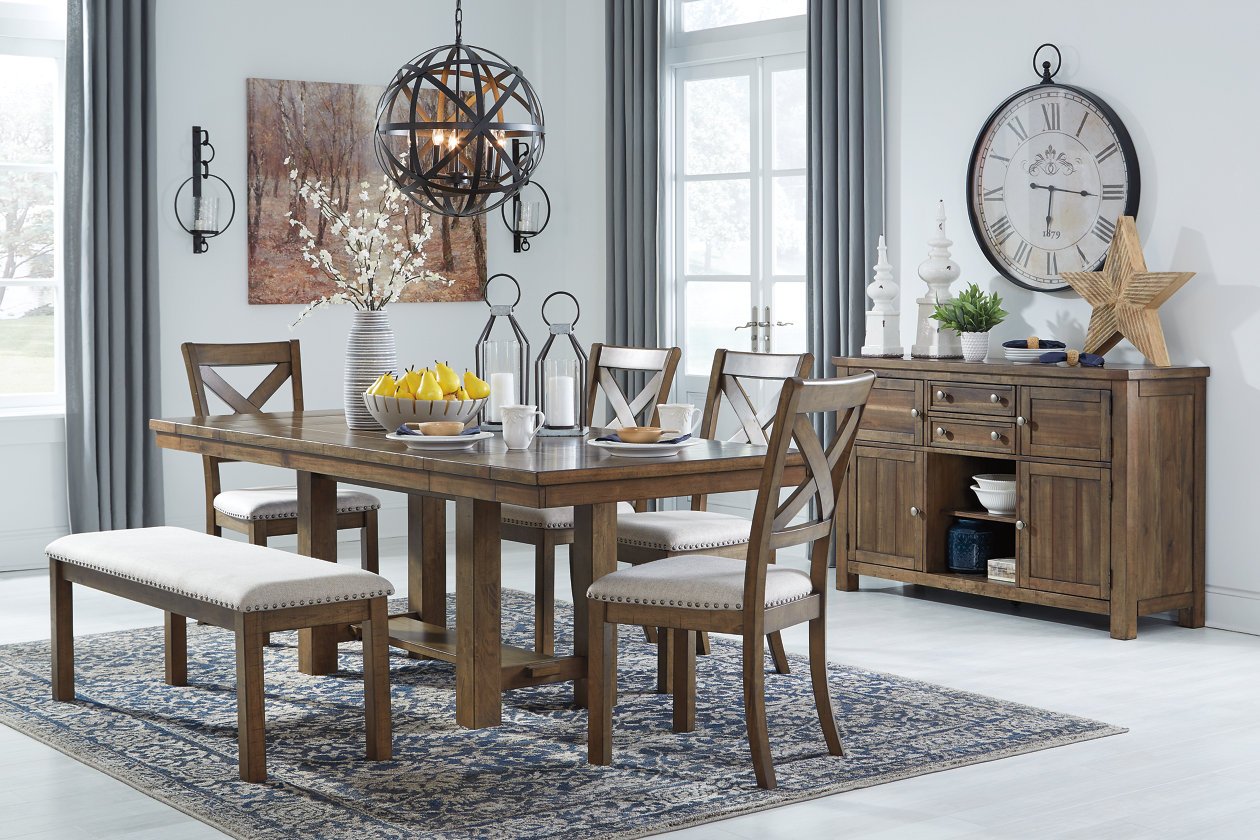 Moriville Brown Rectangular Dining Room Table w/Extension,Signature Design By Ashley