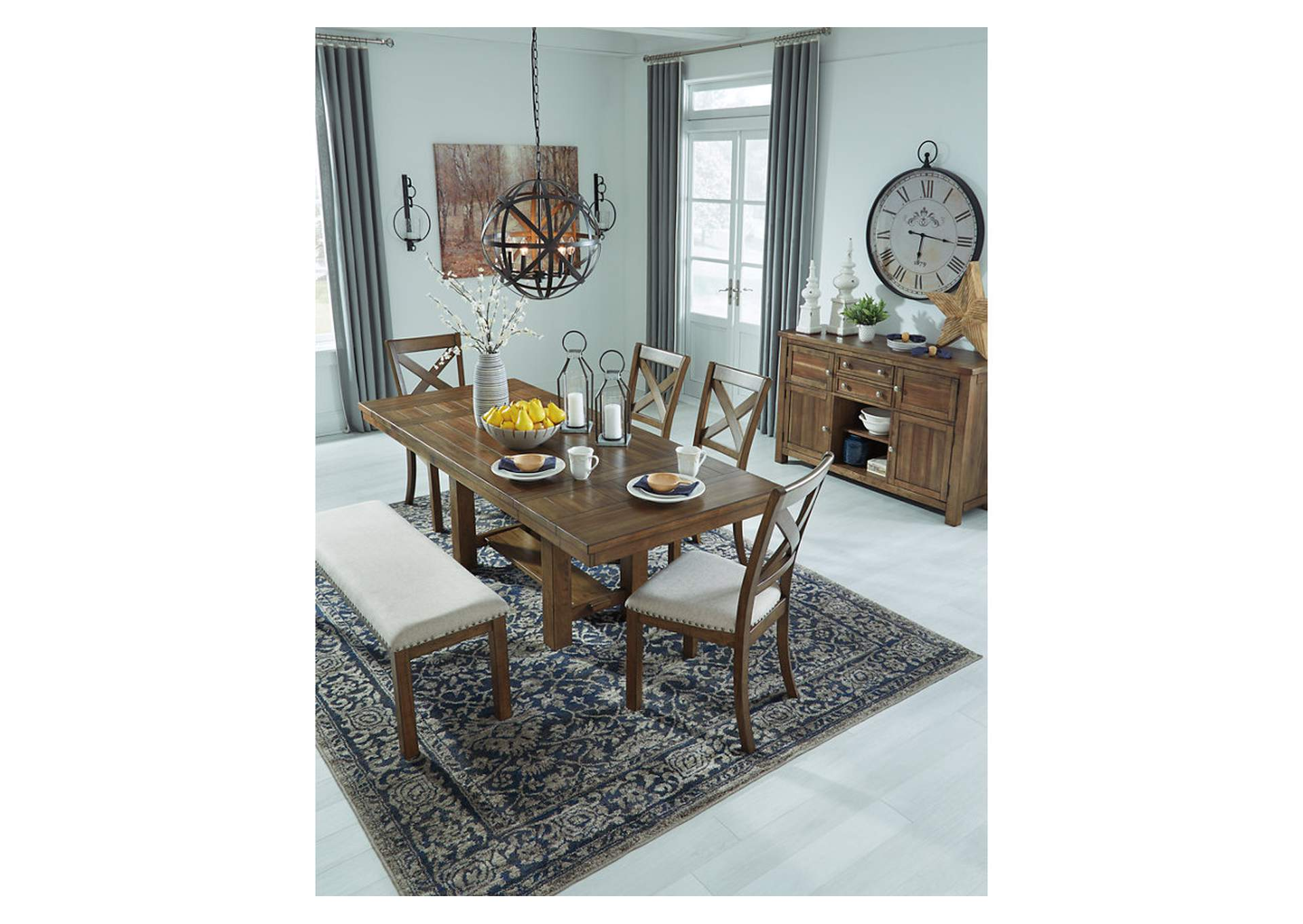 Swell Curlys Furniture Moriville Beige Dining Table W 4 Side Gmtry Best Dining Table And Chair Ideas Images Gmtryco