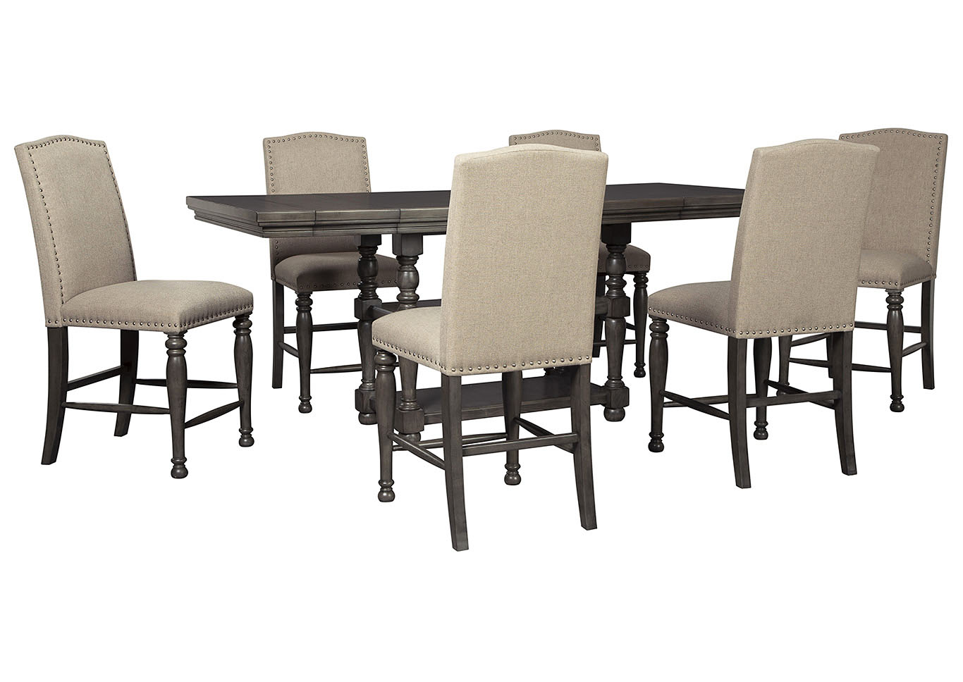 Audberry Dining Set w/6 Bar Stools,Signature Design By Ashley