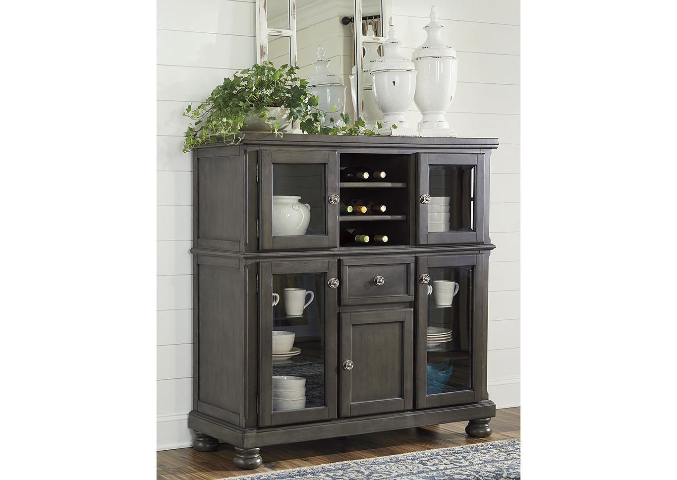 Audberry Dark Gray Dinning Room Server,Signature Design By Ashley