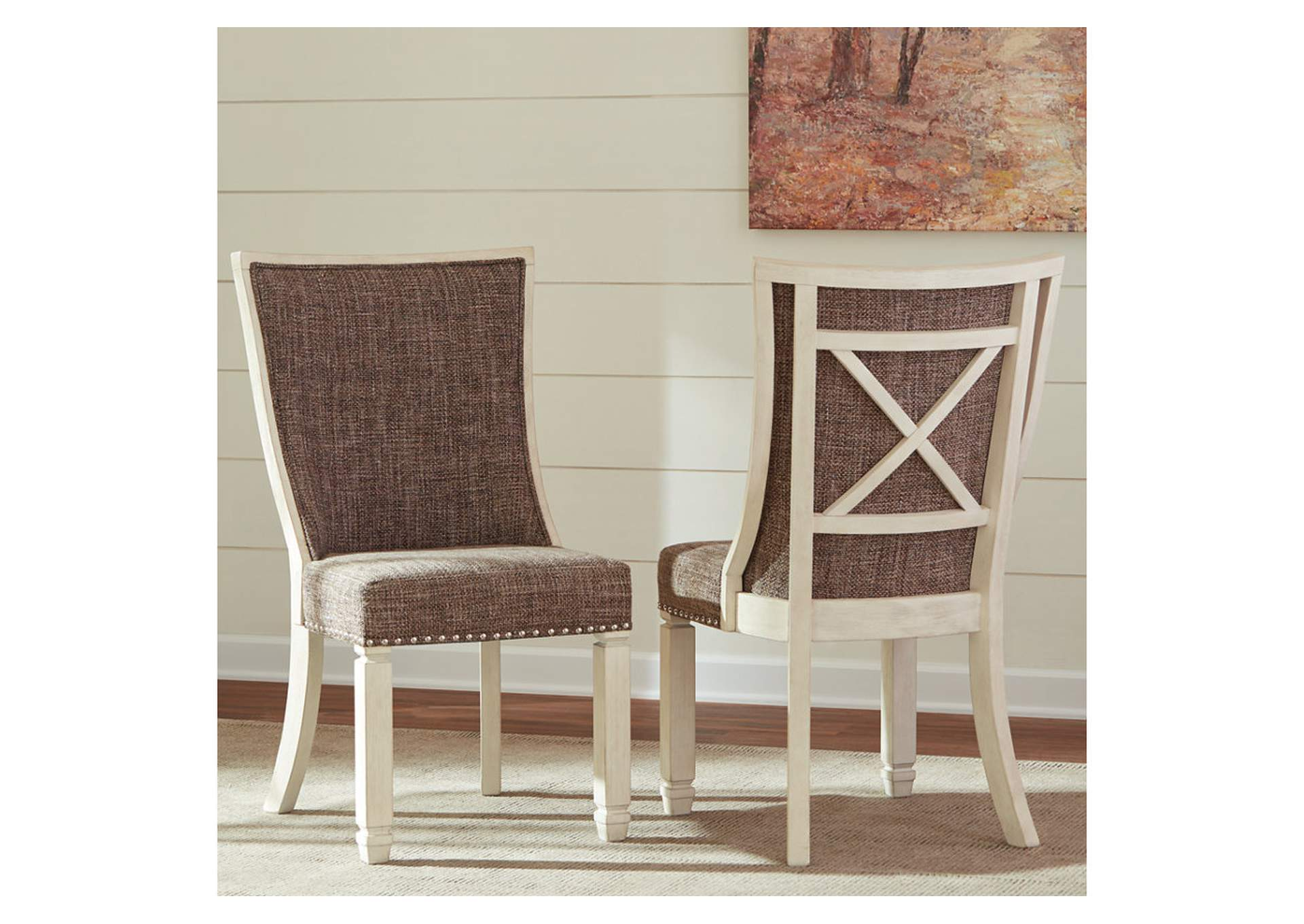Bolanburg Antique White Dining Upholstered Side Chair (Set of 2),Signature Design By Ashley