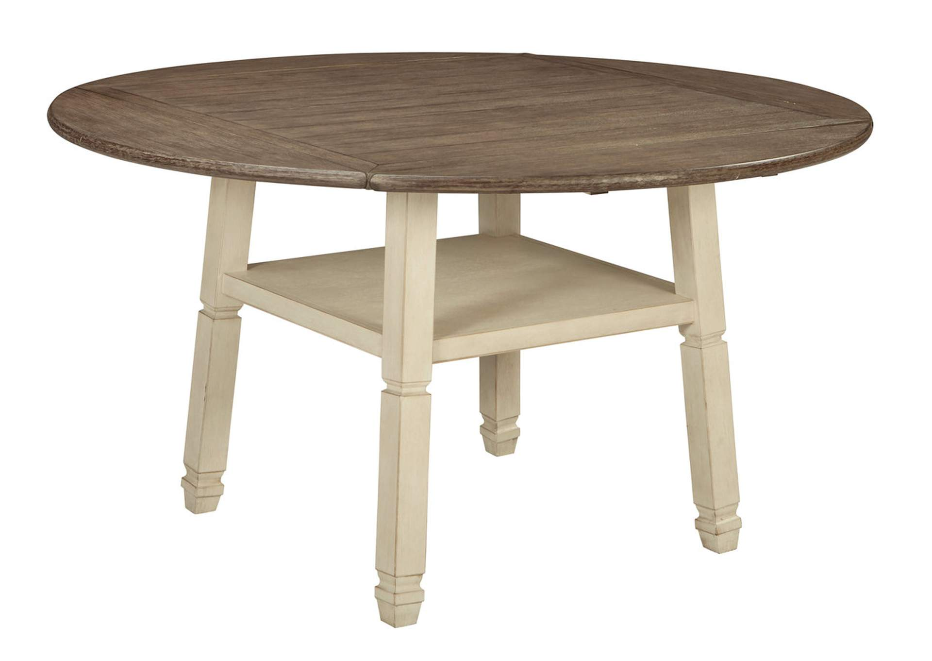 Bolanburg Antique White Round Drop Leaf Counter Table,Signature Design By Ashley