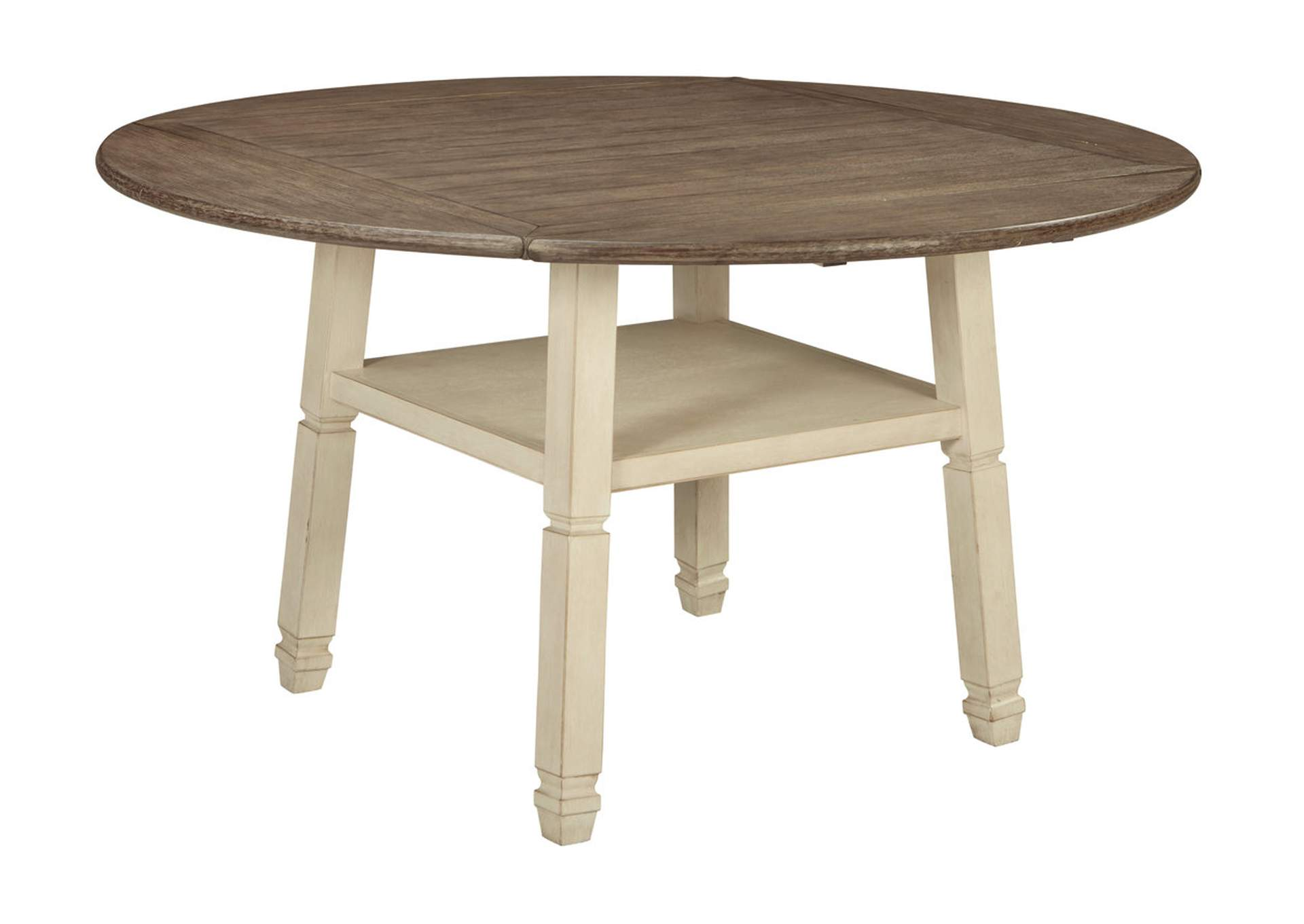 Bolanburg Antique White Round Drop-Leaf Counter Height Table,Signature Design By Ashley