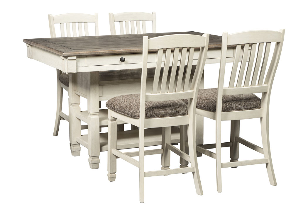 Bolanburg Two-tone 5 Piece Counter Height Dining Set,Signature Design By Ashley