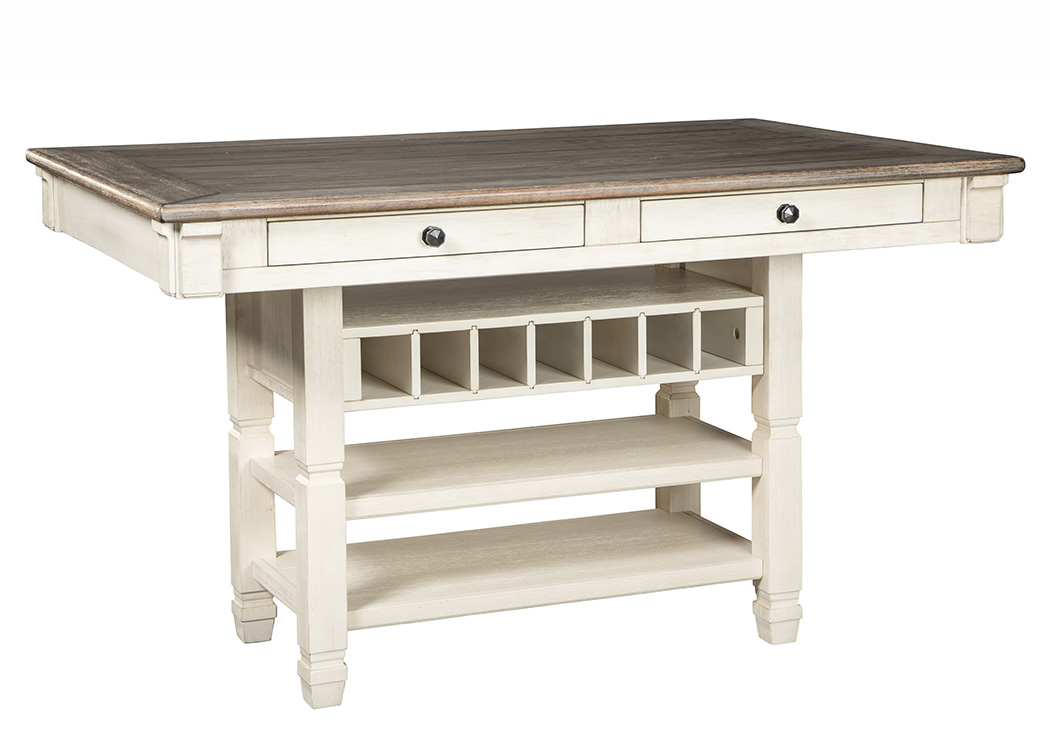Bolanburg Antique White Rectangular Dining Room Counter Table,Signature Design By Ashley