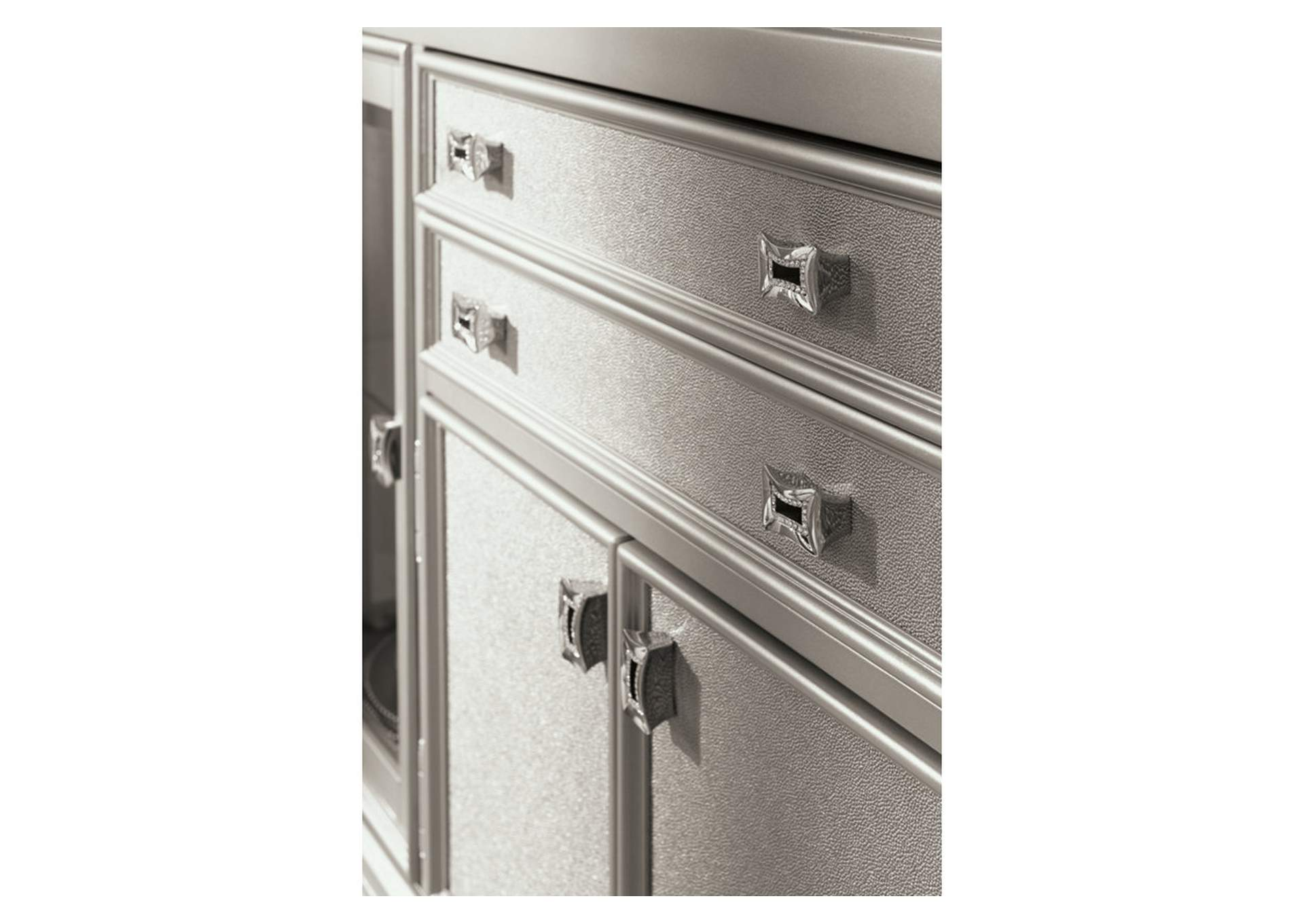 Coralayne Silver Finish Dining Room Server,Signature Design By Ashley