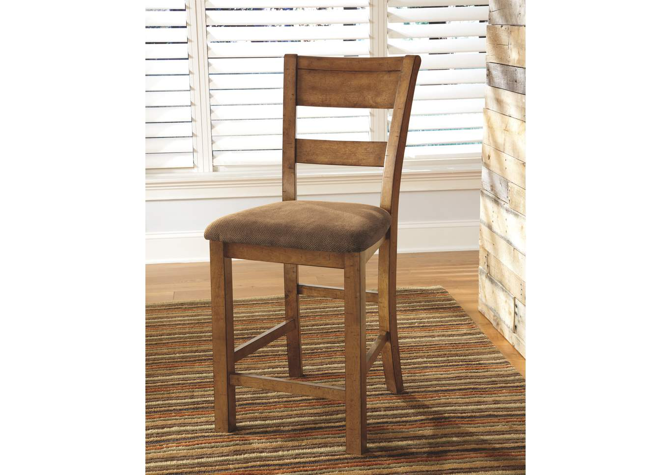 Krinden Upholstered Barstool (Set of 2),Signature Design By Ashley