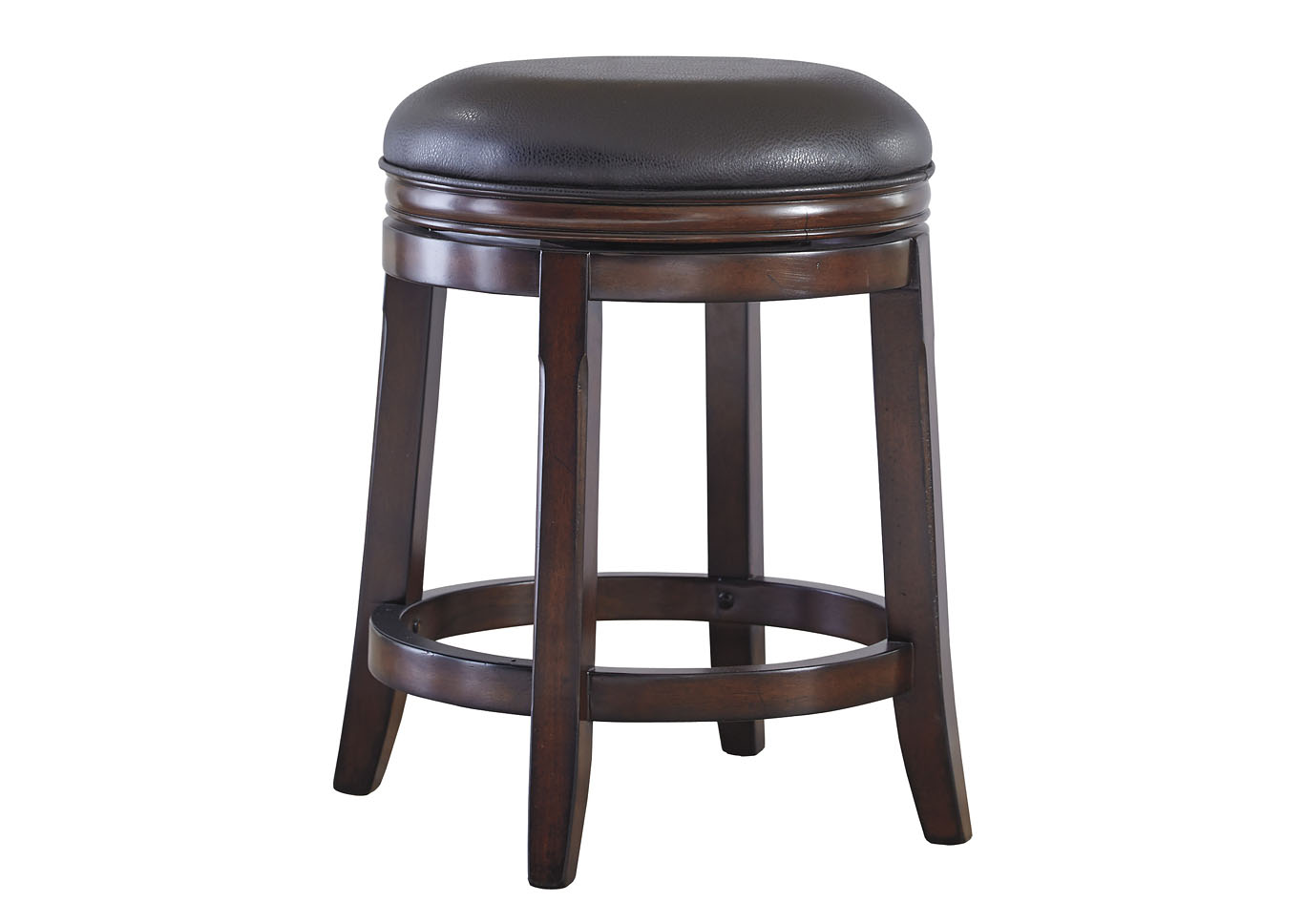 Porter Rustic Brown Upholstered Swivel Stool (Set of 2),Millennium