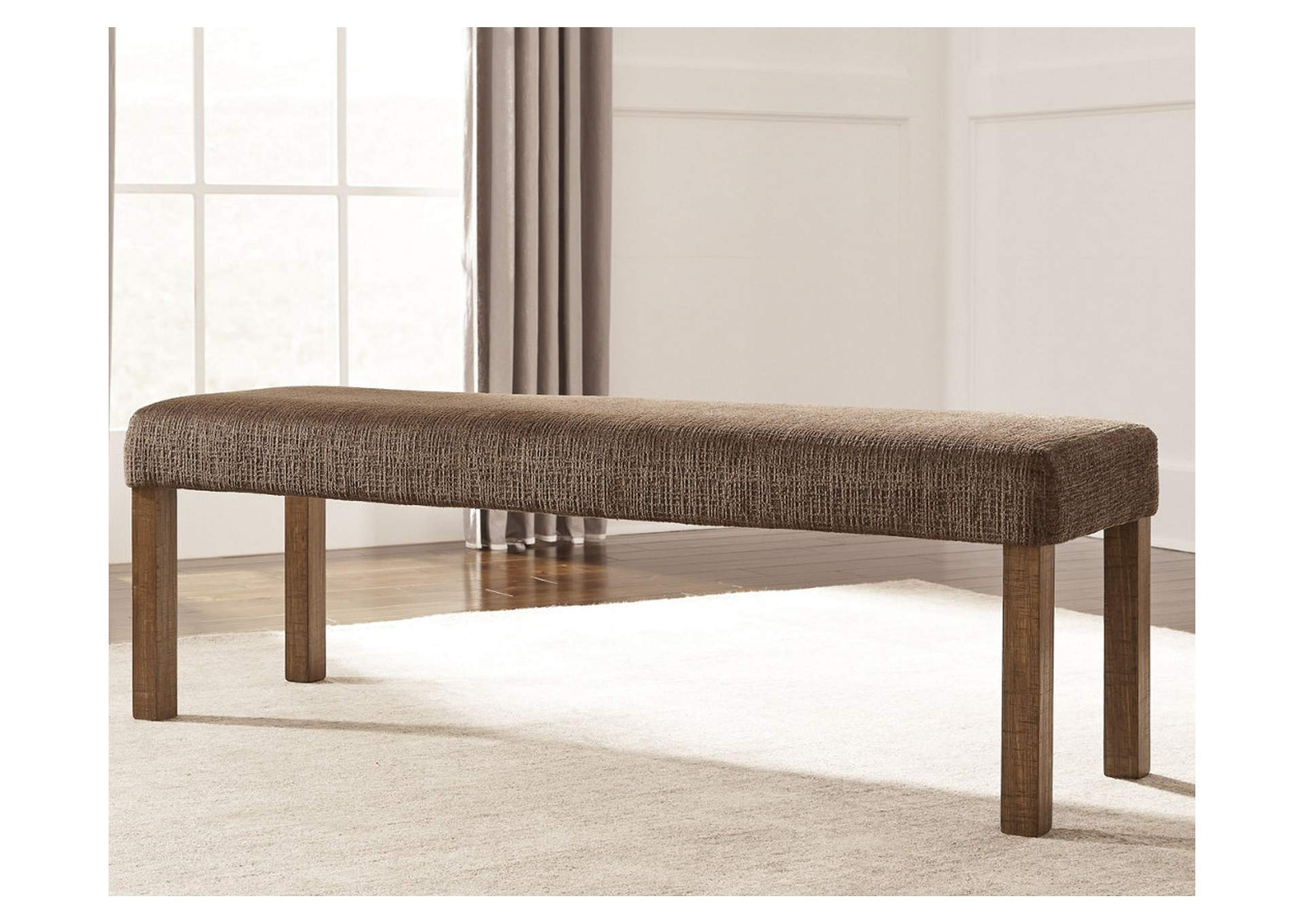 Tamilo Gray/Brown Large Uphostery Dining Room Bench,Signature Design By Ashley