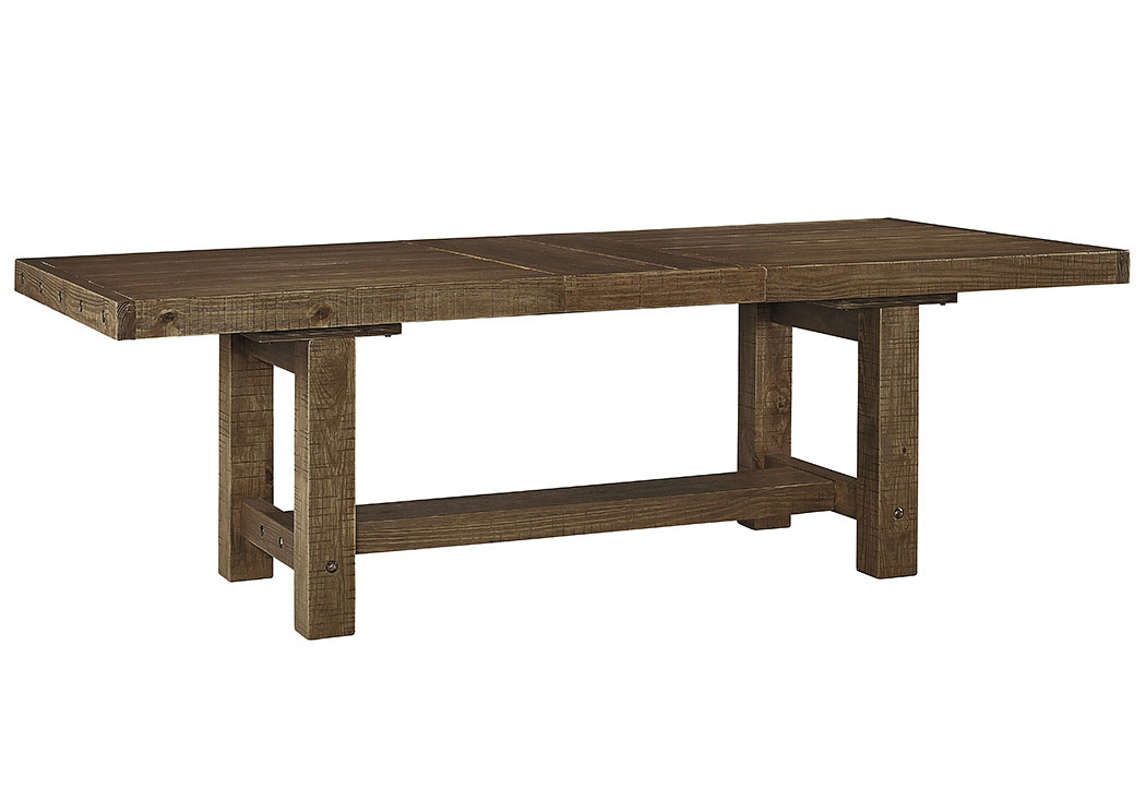 Tamilo Gray/Brown Rectangular Dining Room Extension Table,Signature Design By Ashley